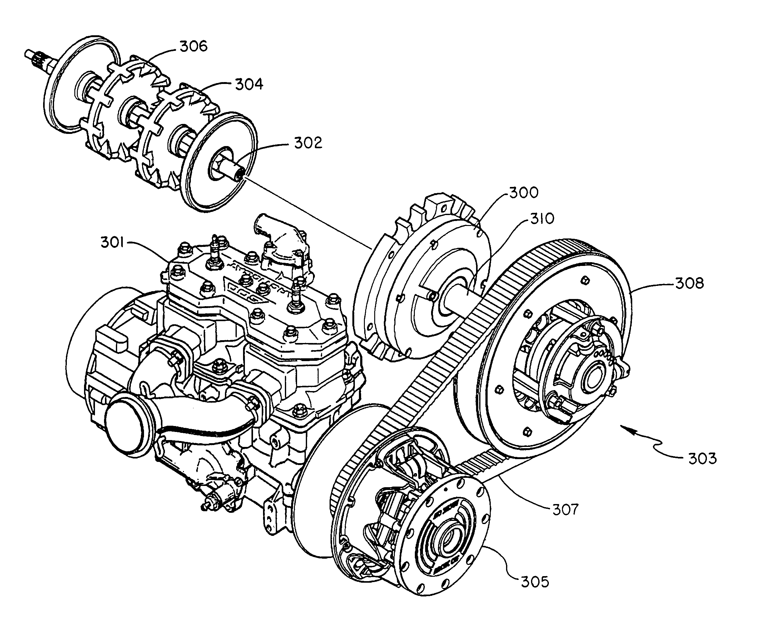 Patent Us7063639 - Snowmobile Planetary Drive System