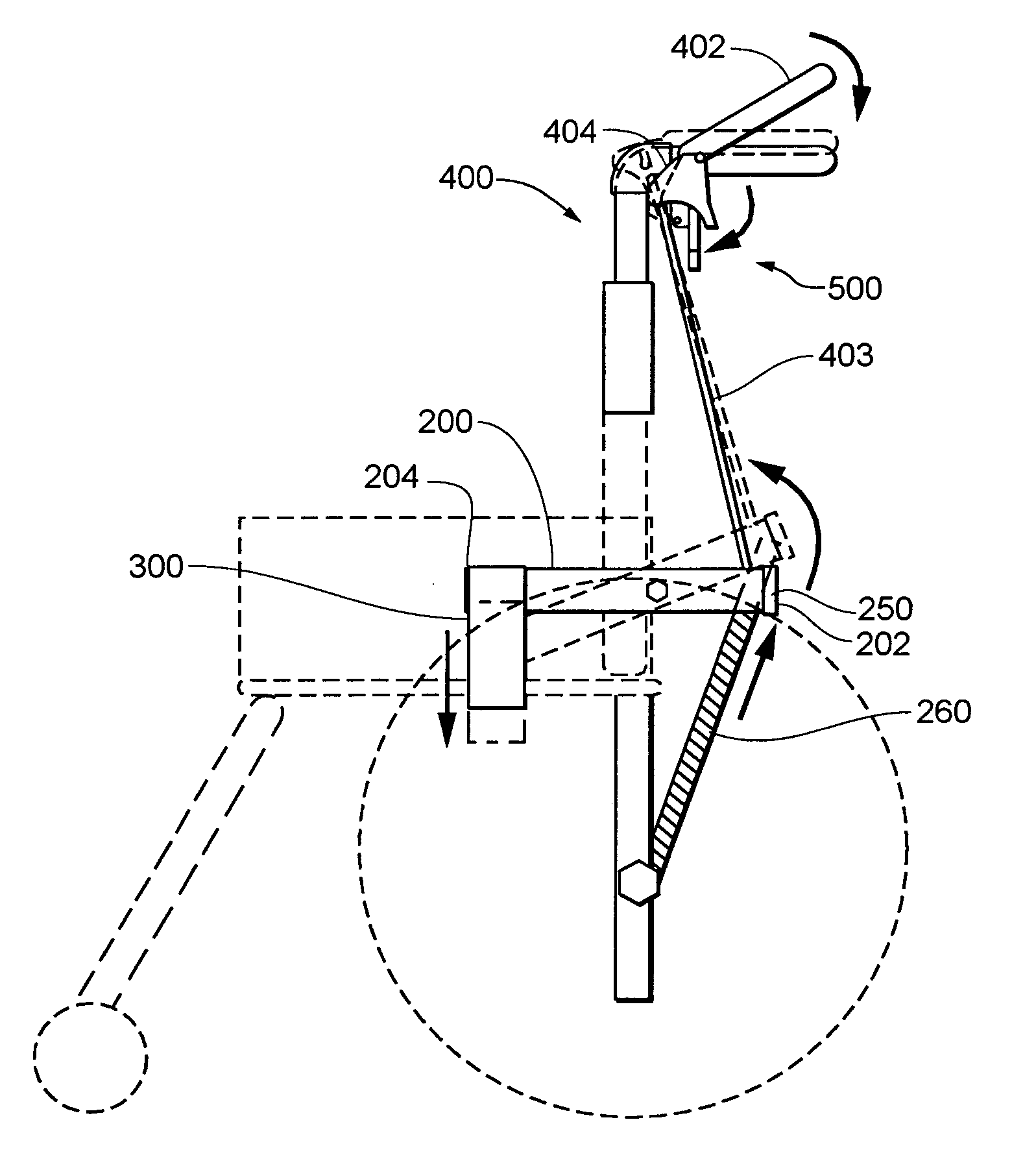 Mechanism Wheel Lever : Patent us handle assembly for wheel chair brake