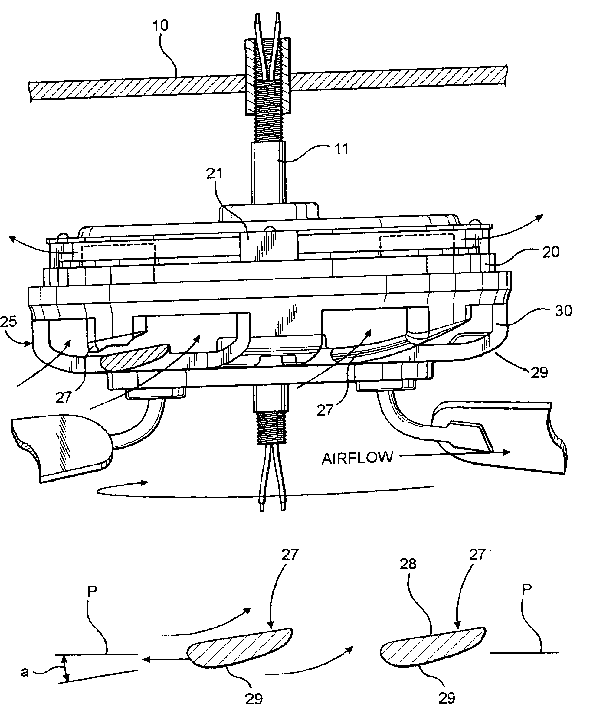 Patent Us7066721 Ceiling Fan Motors Google Patents Wiring Diagram On Emerson Motor Drawing