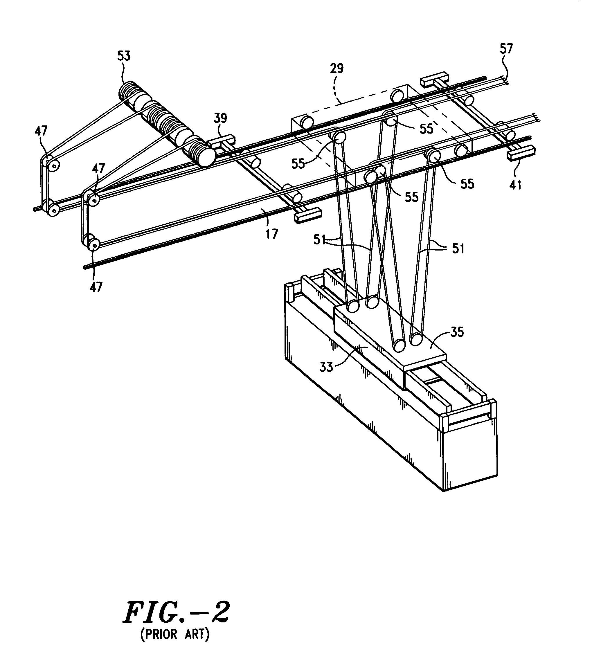 Patent Us7073673 Wire Rope Reeving Support System For