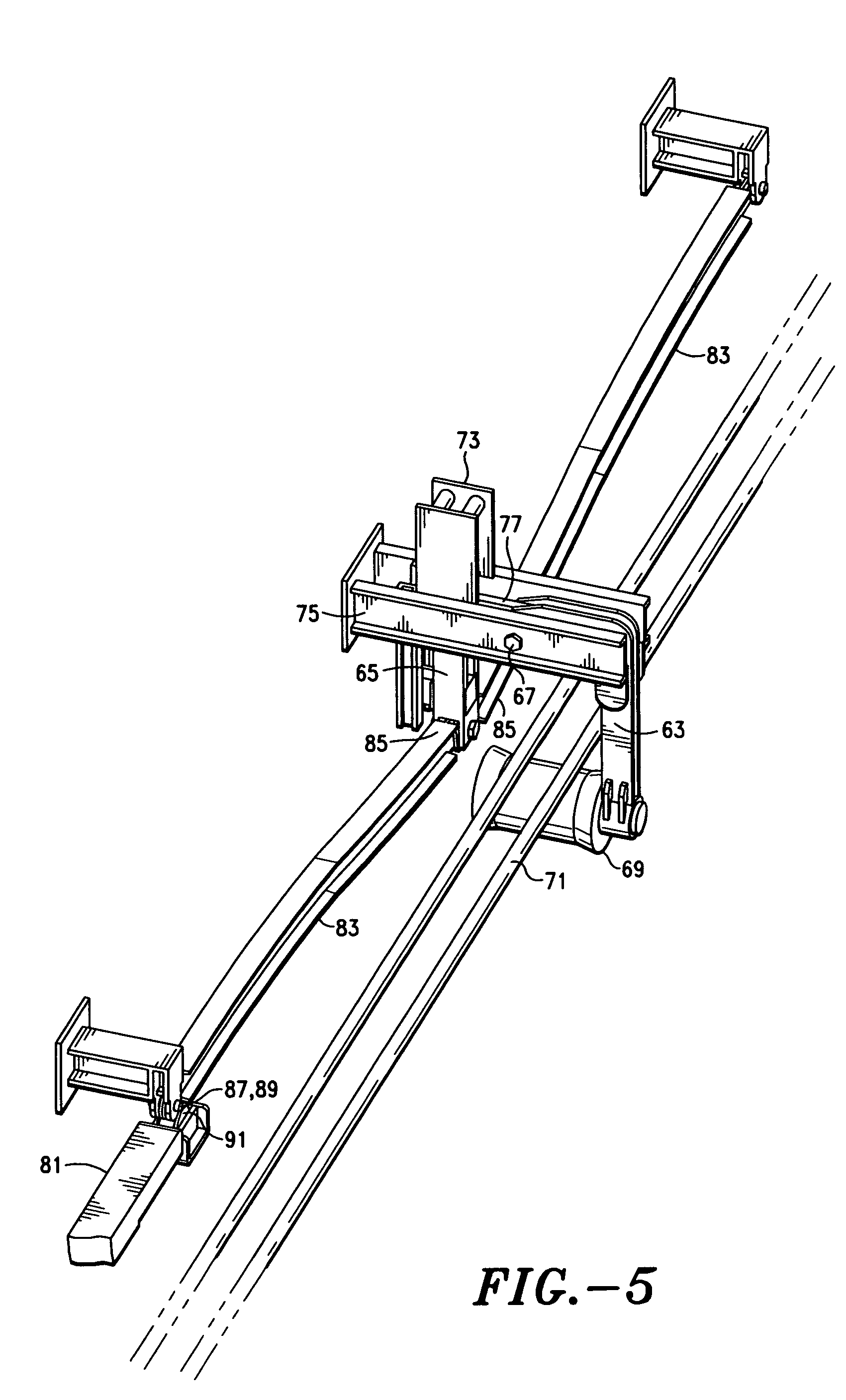 Patent US7073673 - Wire rope reeving support system for cargo ...