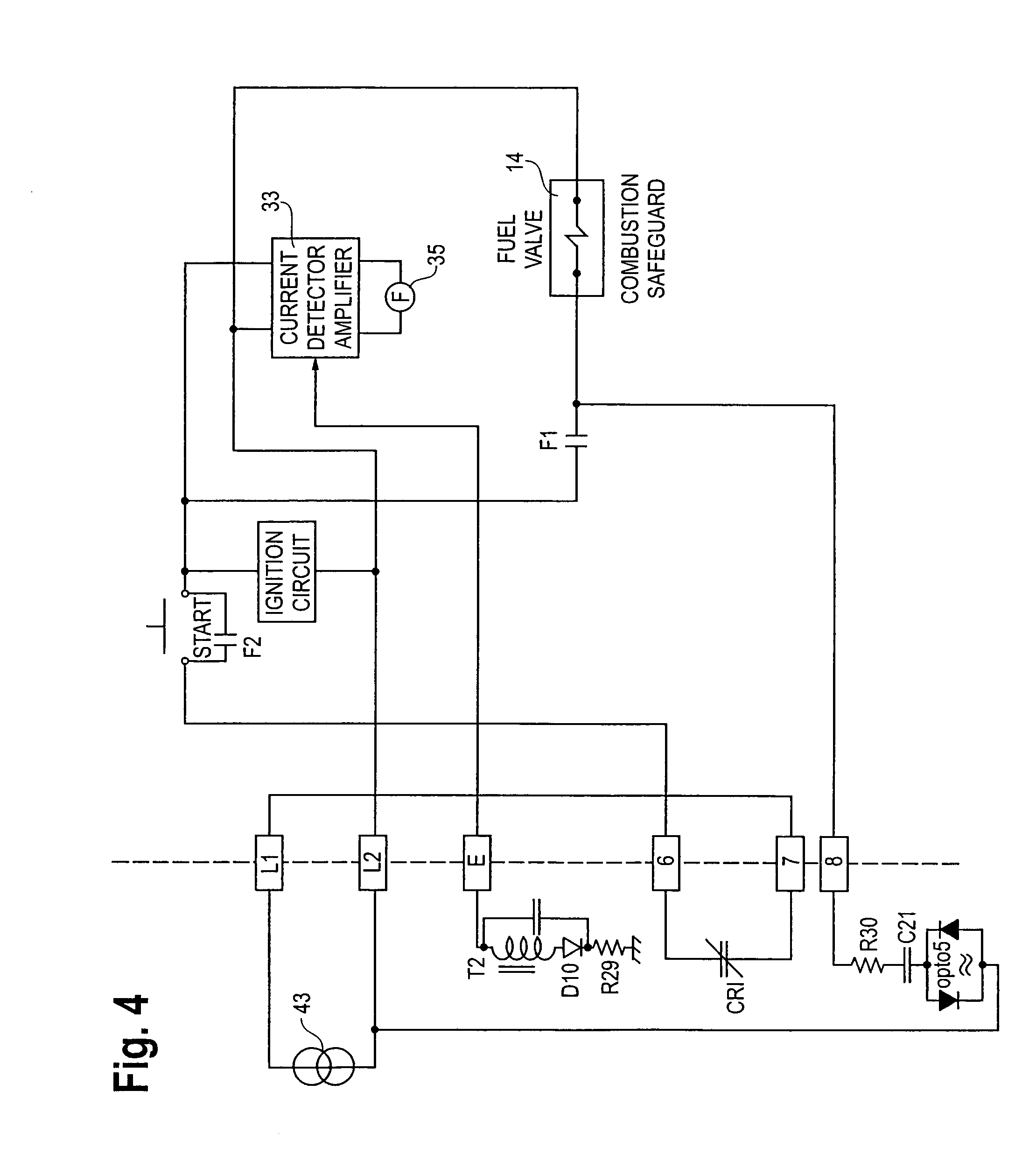 patent us7088253 flame detector method and fuel valve control patent drawing