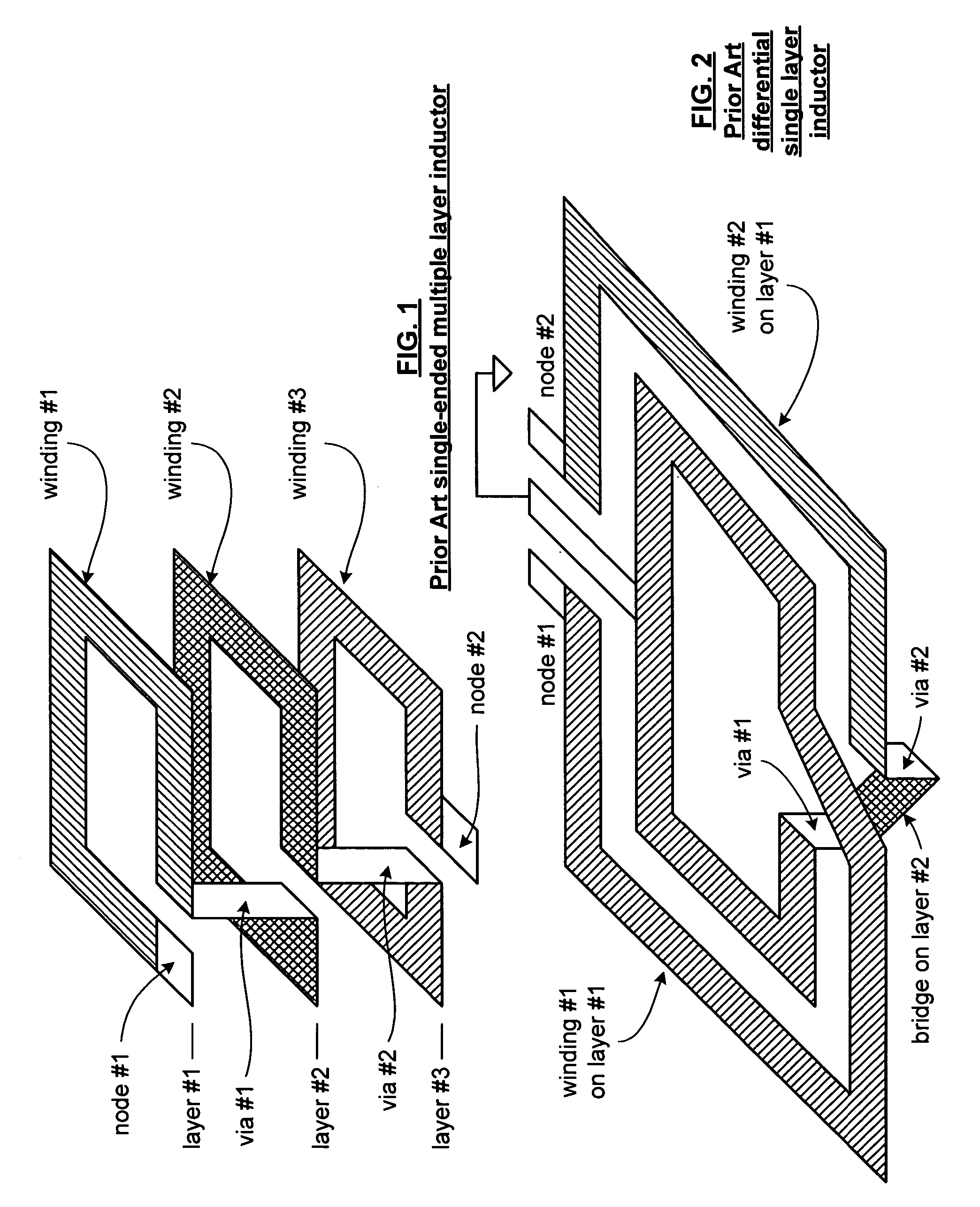 Patent Us7091814 On Chip Differential Multi Layer Inductor In A Circuit Drawing