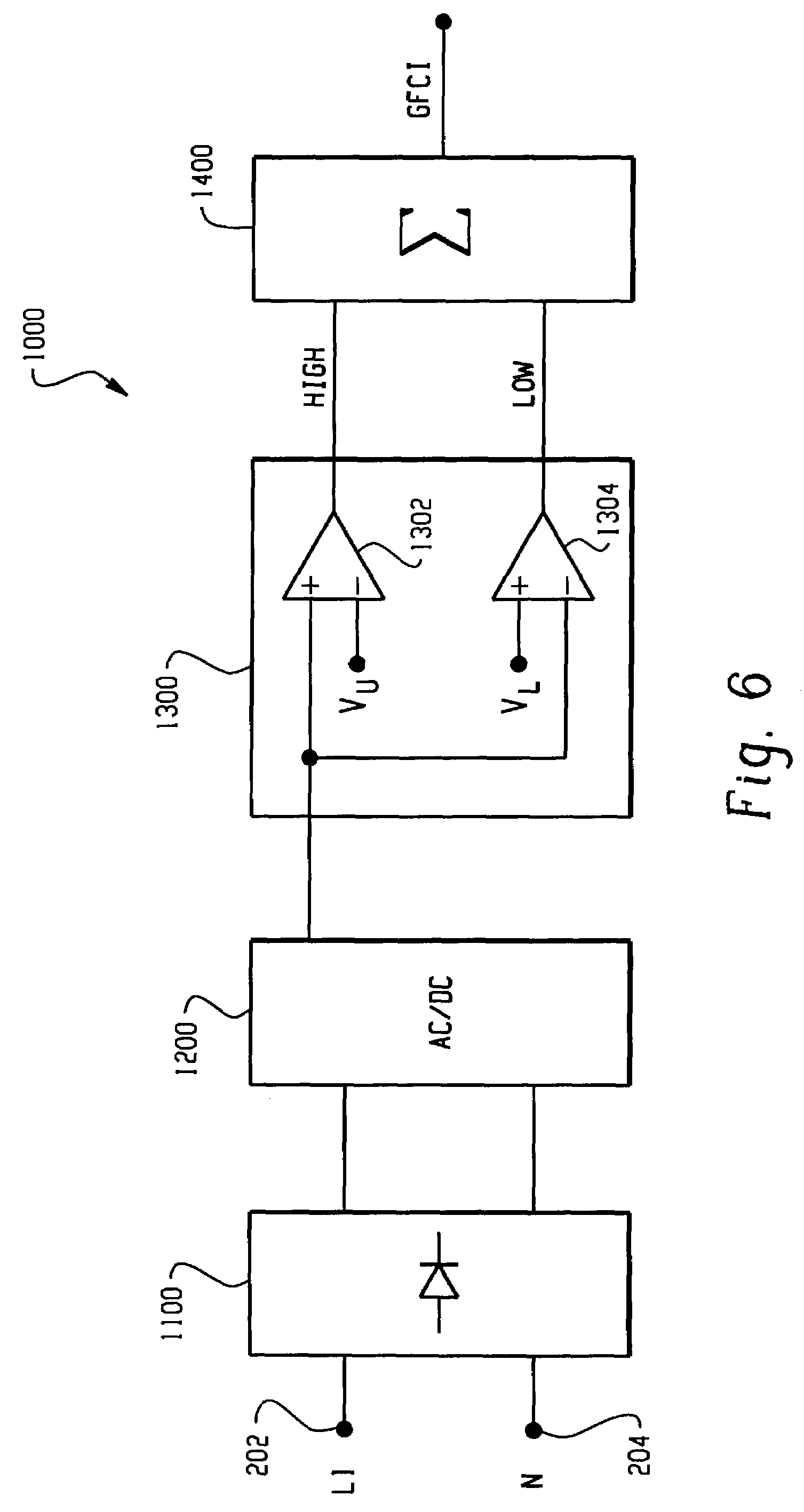 patent us7099130 - voltage monitor for ground fault circuit interrupter