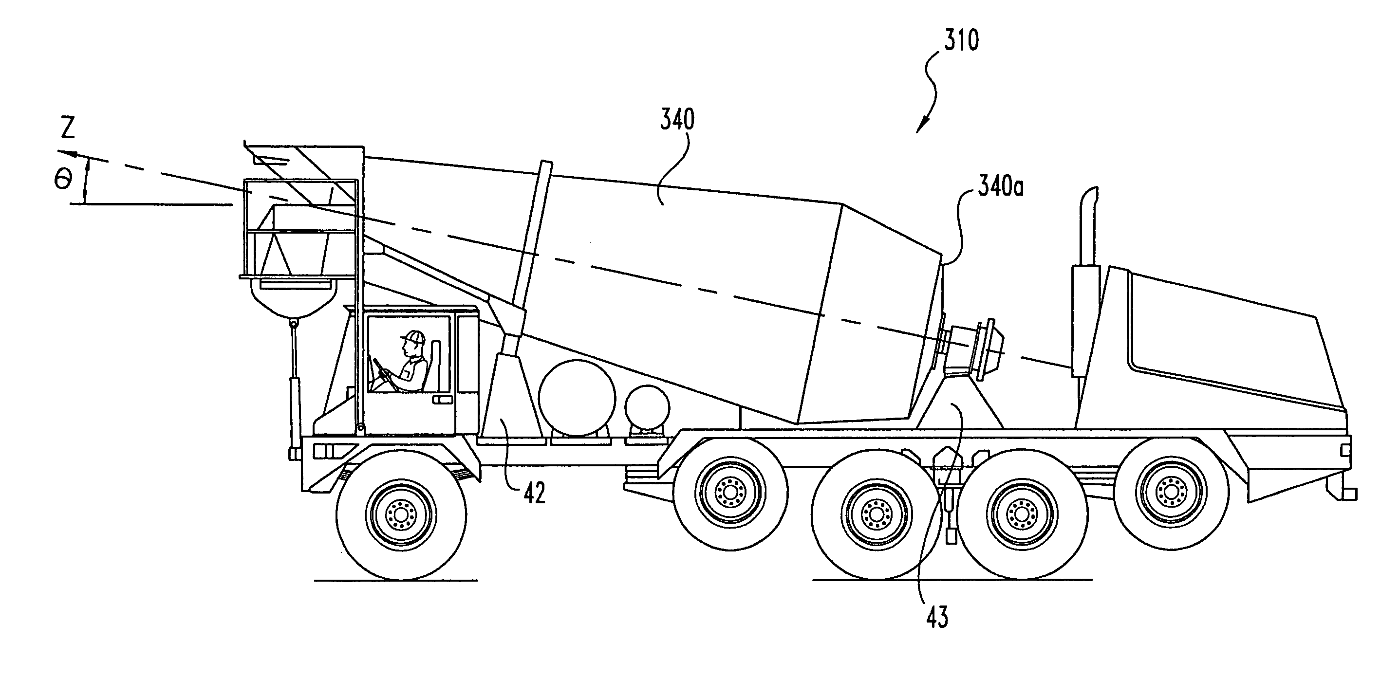 front discharge concrete mixer truck diagrams