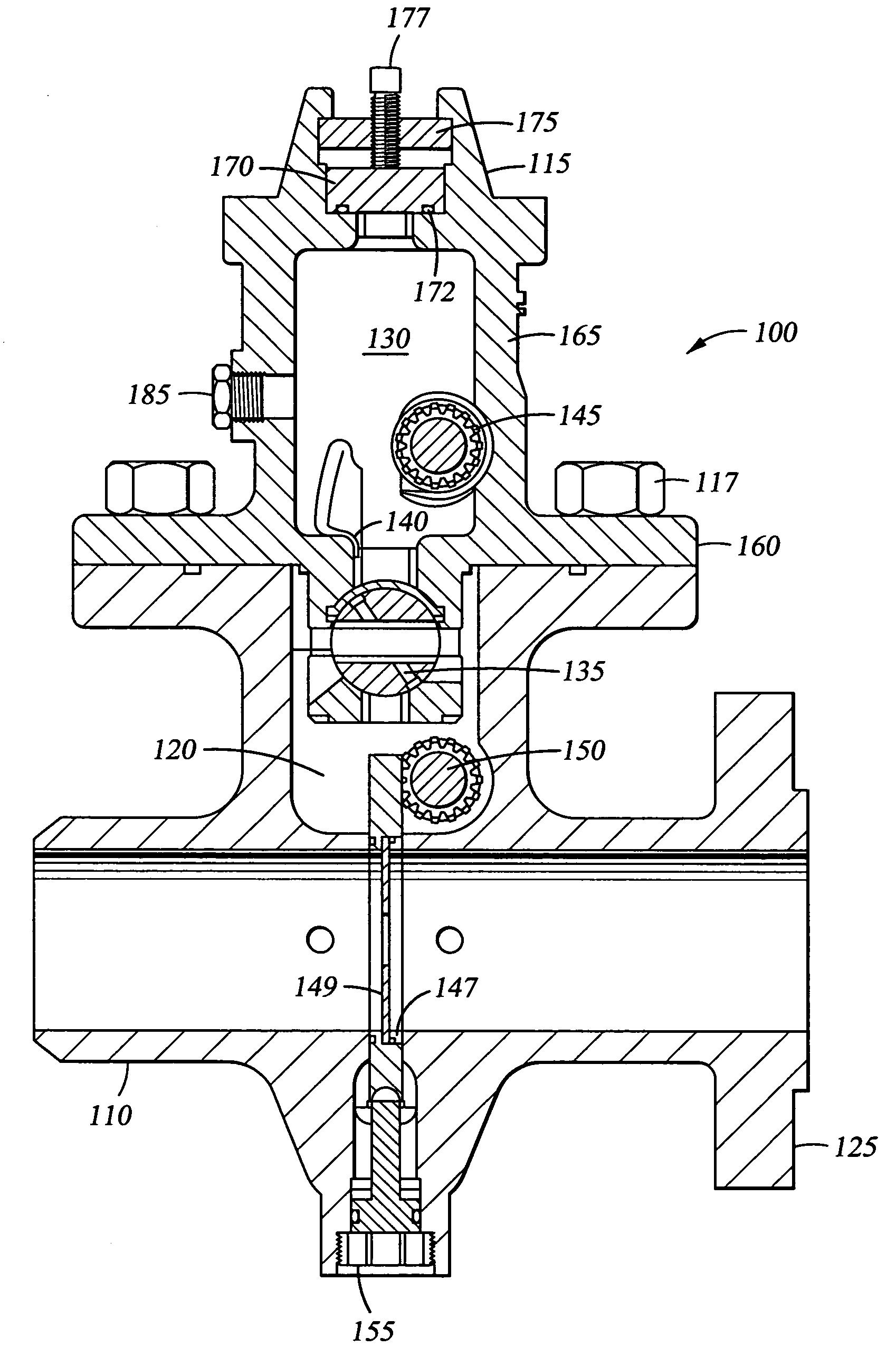Patent us dual chamber orifice fitting valve