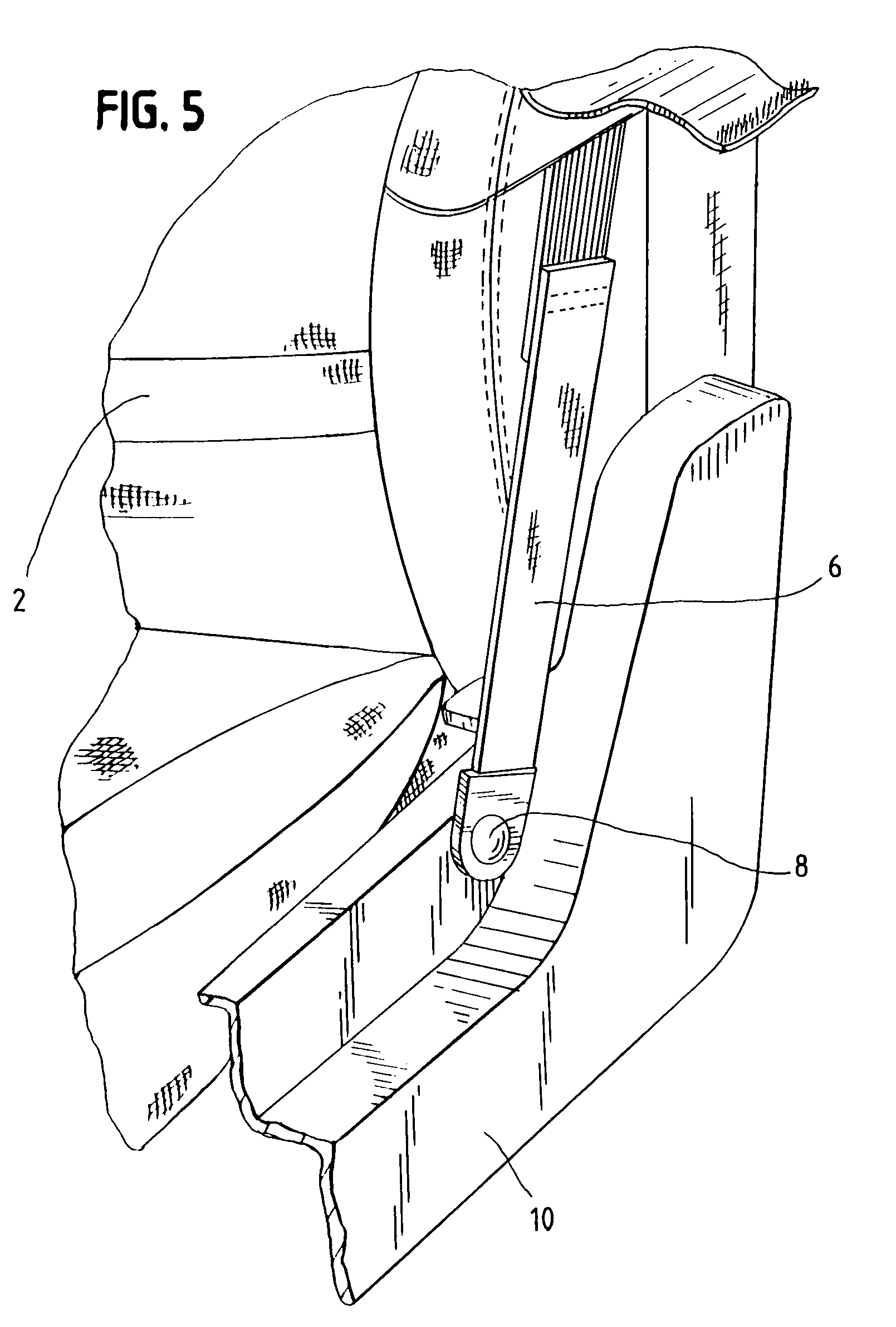 patent us7104570 - low mount seat belt guide loop