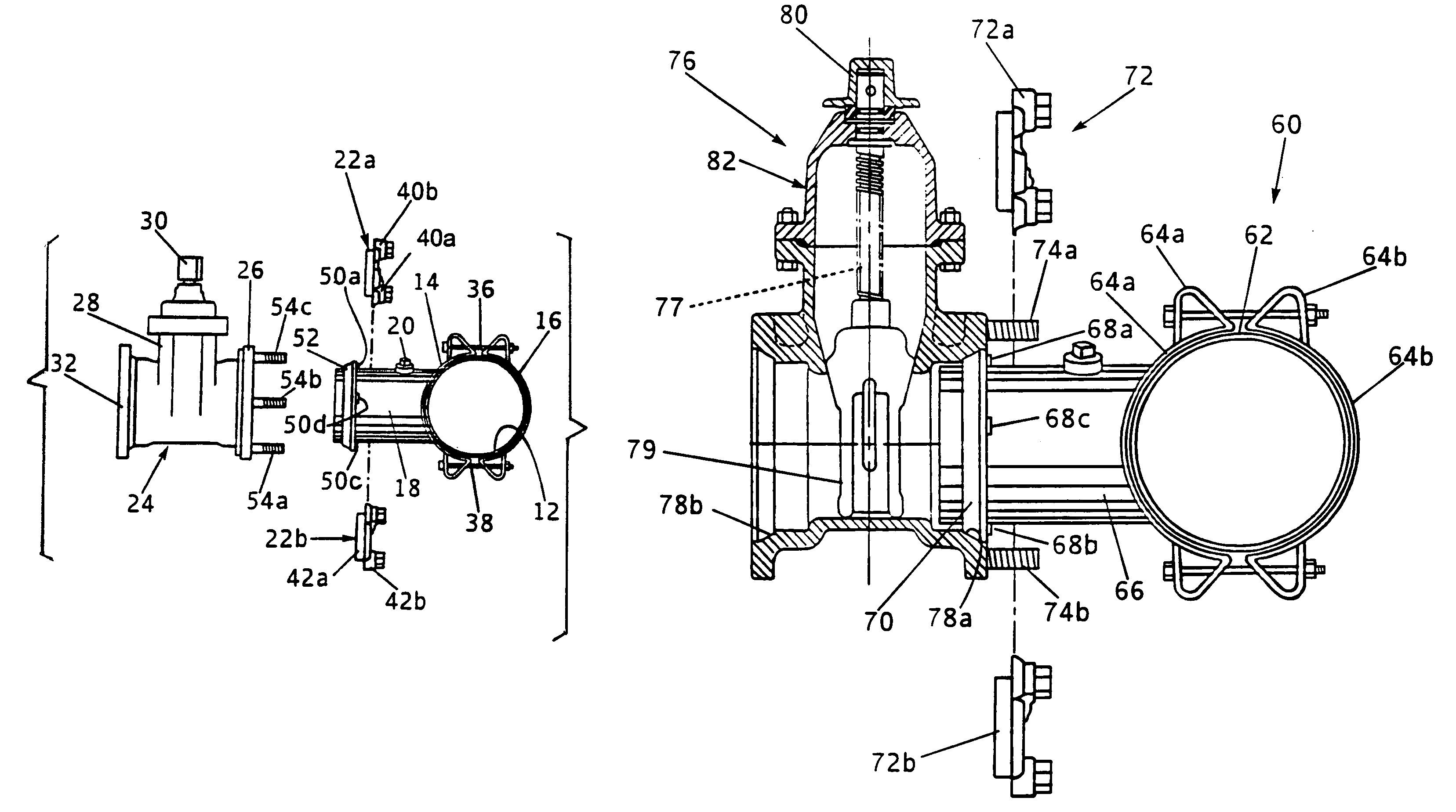 Patent us tapping sleeve with mechanical joint
