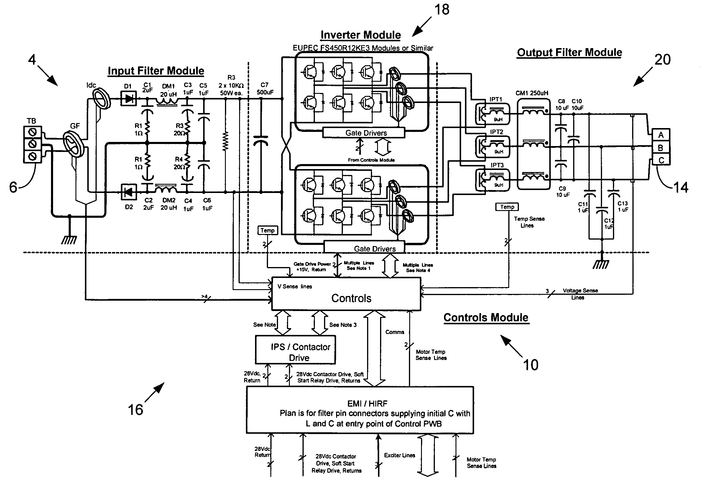 Patent US Parallel Inverter Motor Drive With Improved - Circuit diagram of relay driver