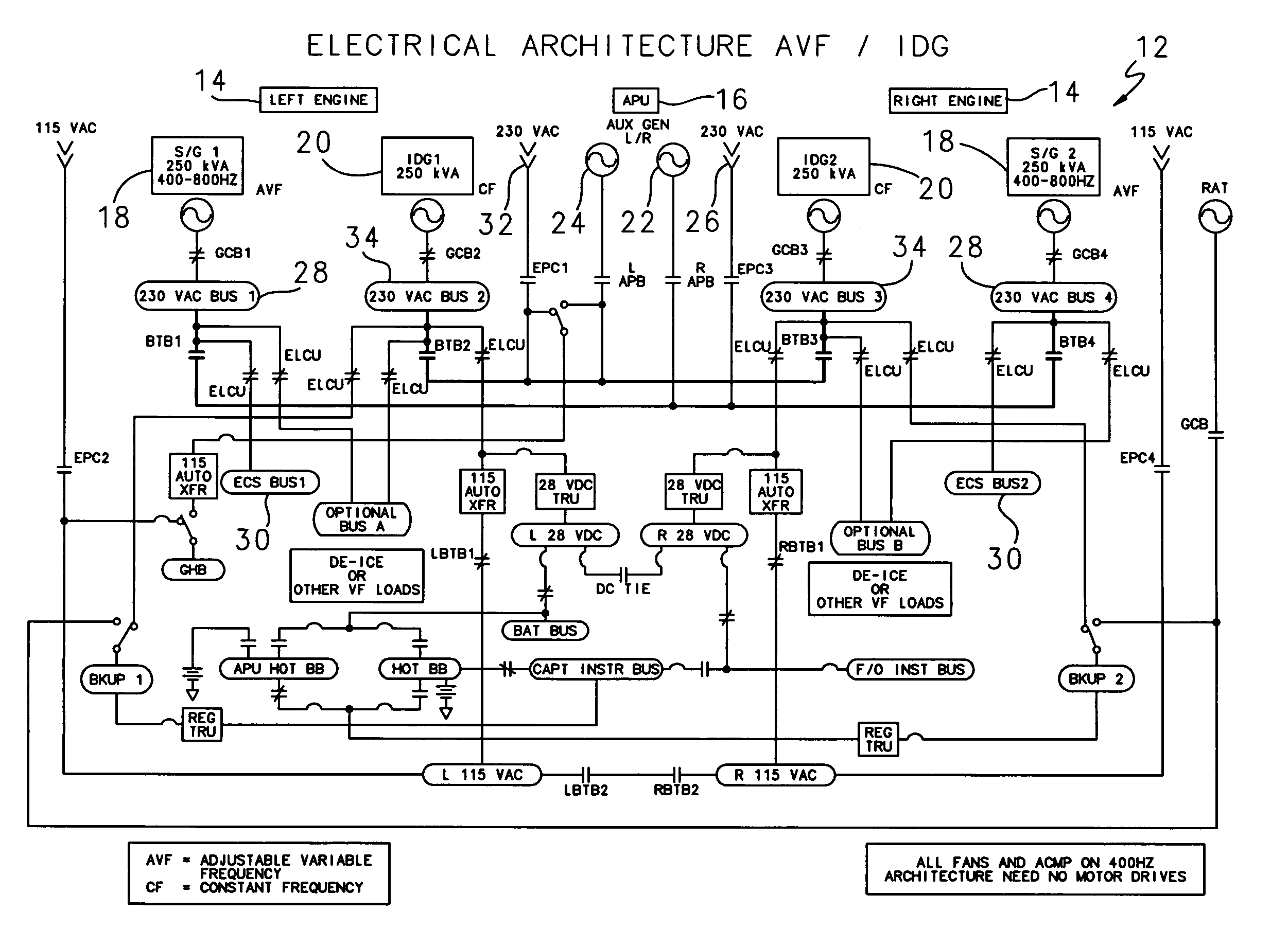 patent us7116003  generator electrical system with mixed power architecture