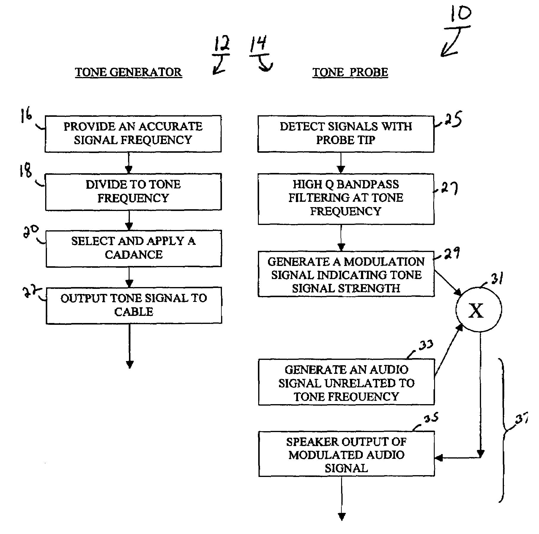 Patent Us7116093 Tone Generator And Probe Google Patents Audio Circuit Drawing