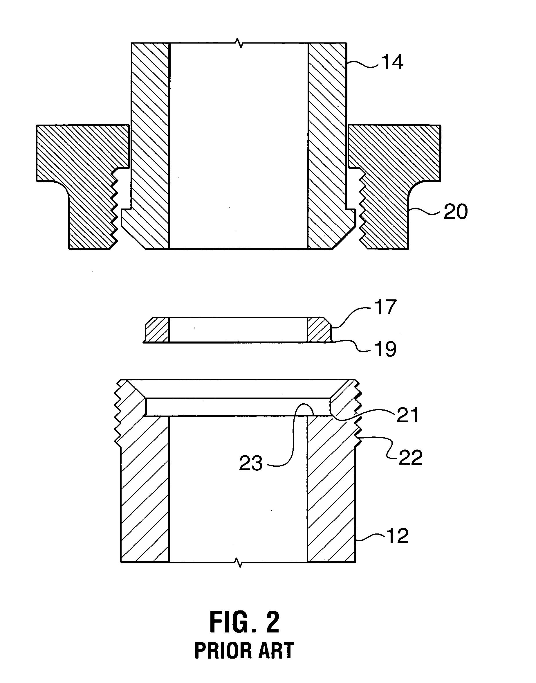 Patent us metal ring gasket for a threaded union