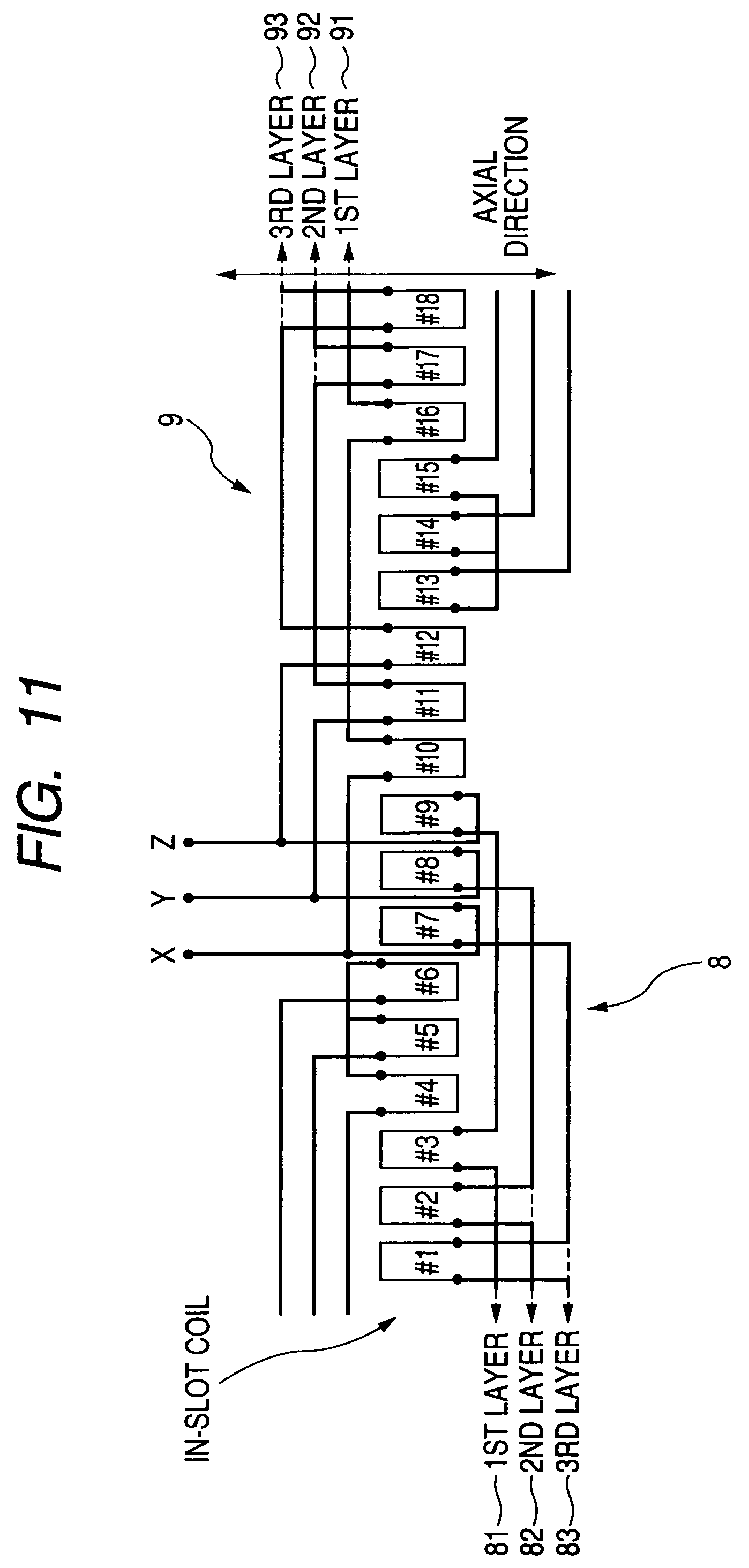 patent us7126247 concentrated winding stator coil for an patent drawing
