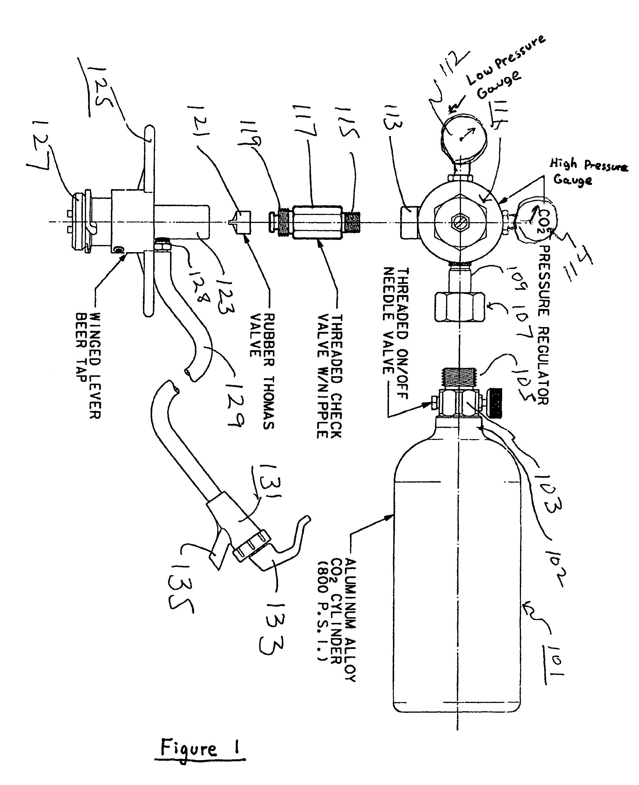 diagram of a beer keg