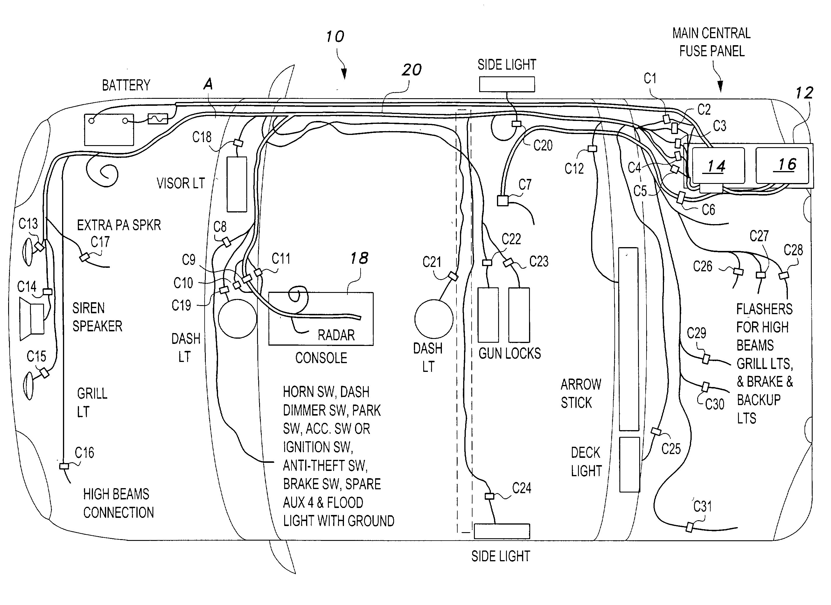 US07132761 20061107 D00000 patent us7132761 universal fleet electrical system google patents whelen control box wiring diagram at alyssarenee.co