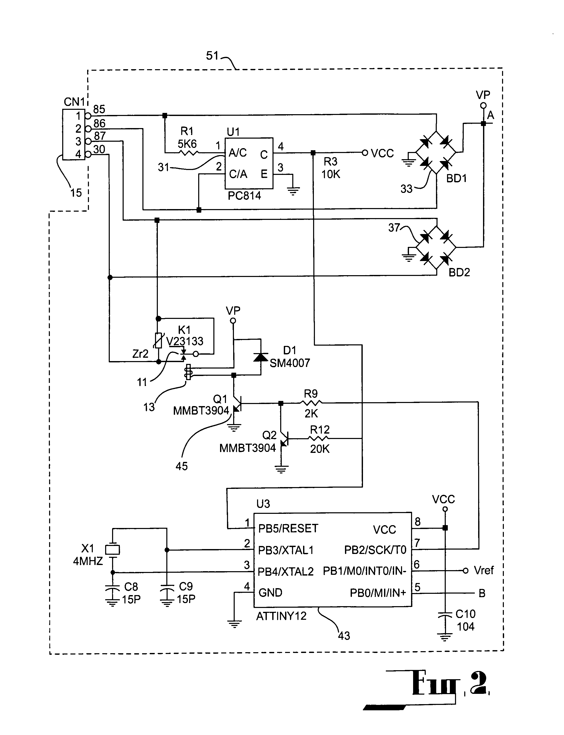 US07132762 20061107 D00002 patent us7132762 self contained control unit incorporating dynamco immobiliser wiring diagram at soozxer.org