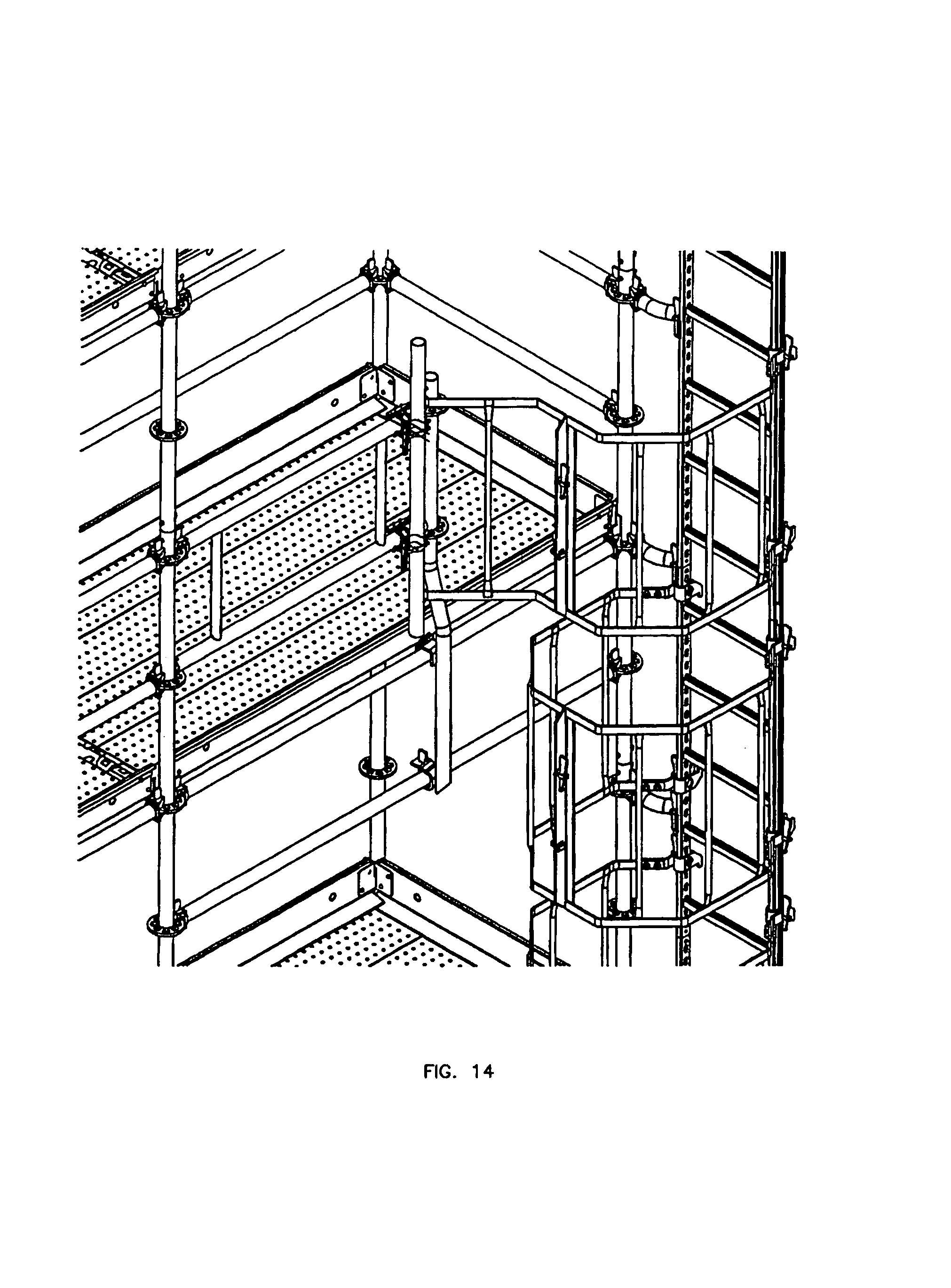 Patent Us7137478 Ladder Safety Cage Google Patents