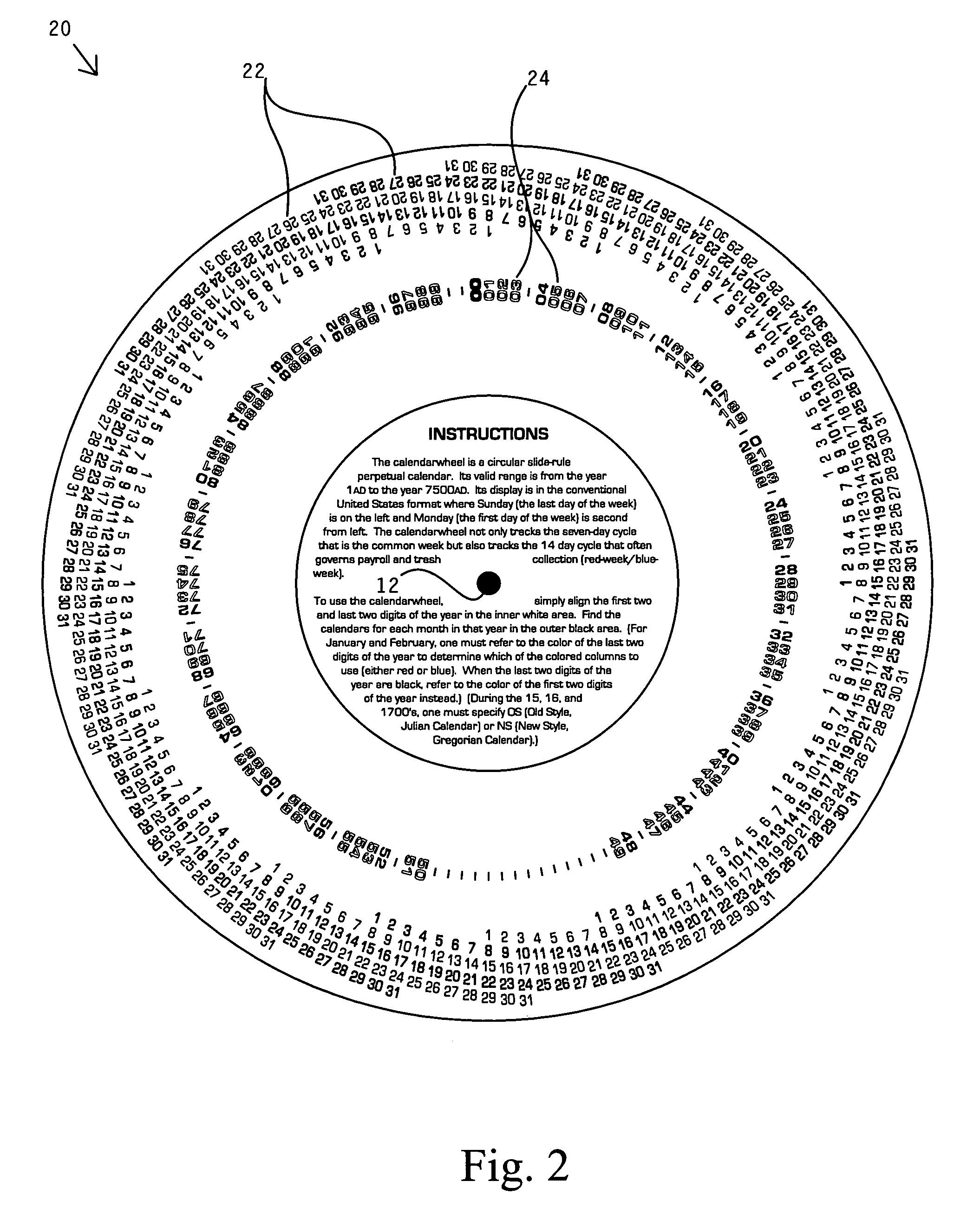 Patent US7140132 - Perpetual calendar wheel chart - Google Patents