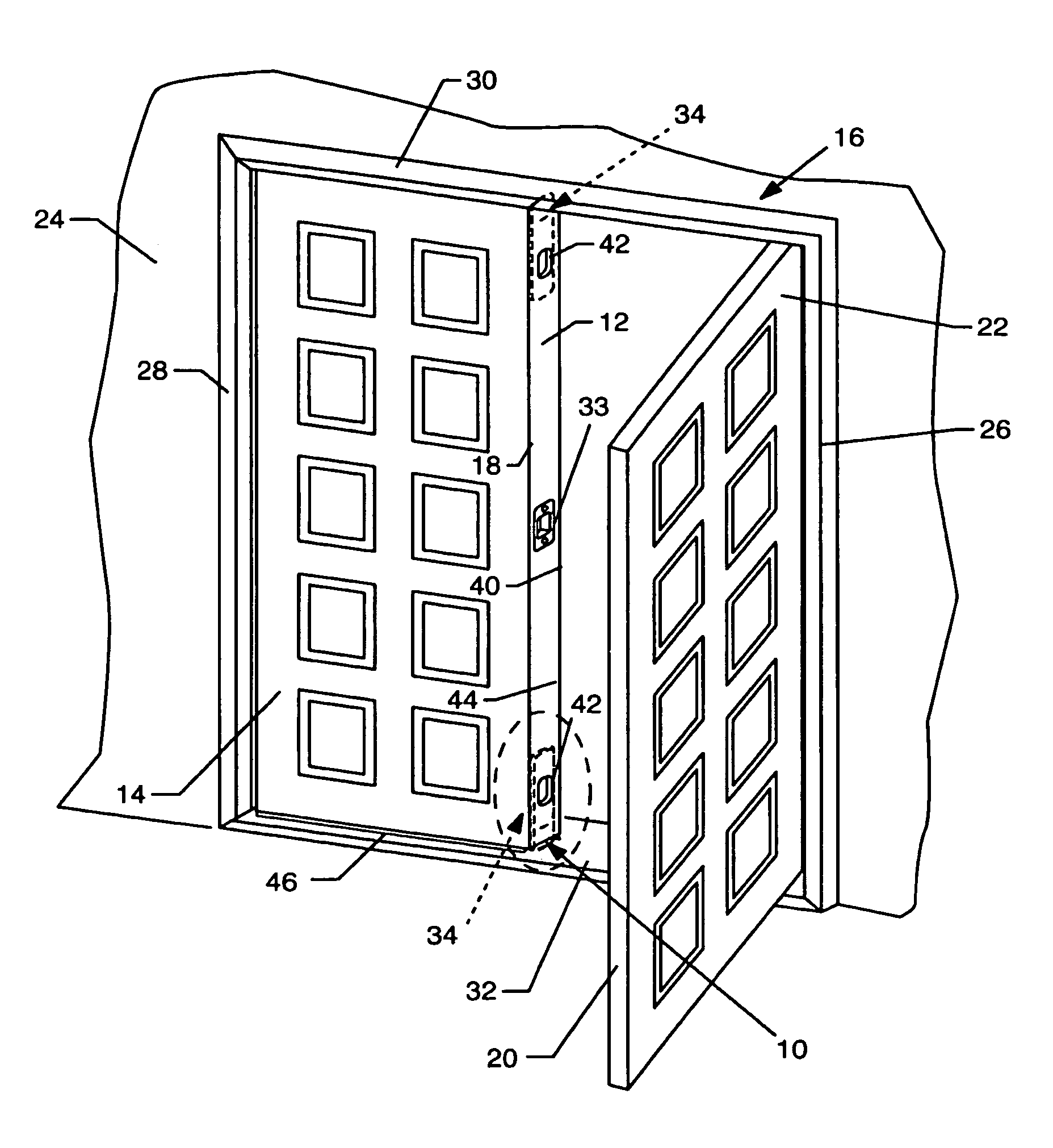 Patent Drawing  sc 1 st  Google & Patent US7140154 - Astragal boot for a double door set - Google ... pezcame.com