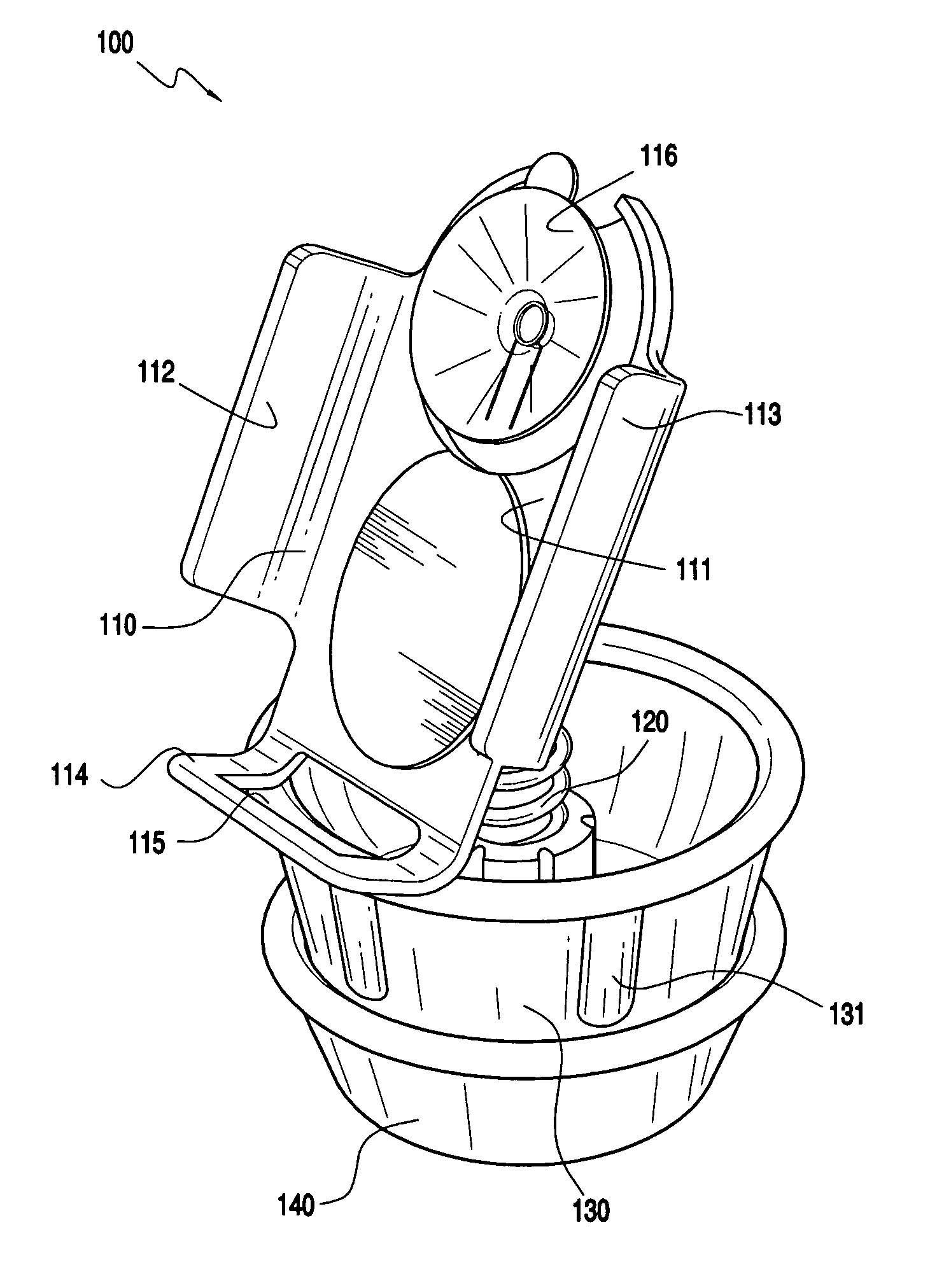patent us7140586 apparatus capable of holding an object 115 Plug Screw patent drawing