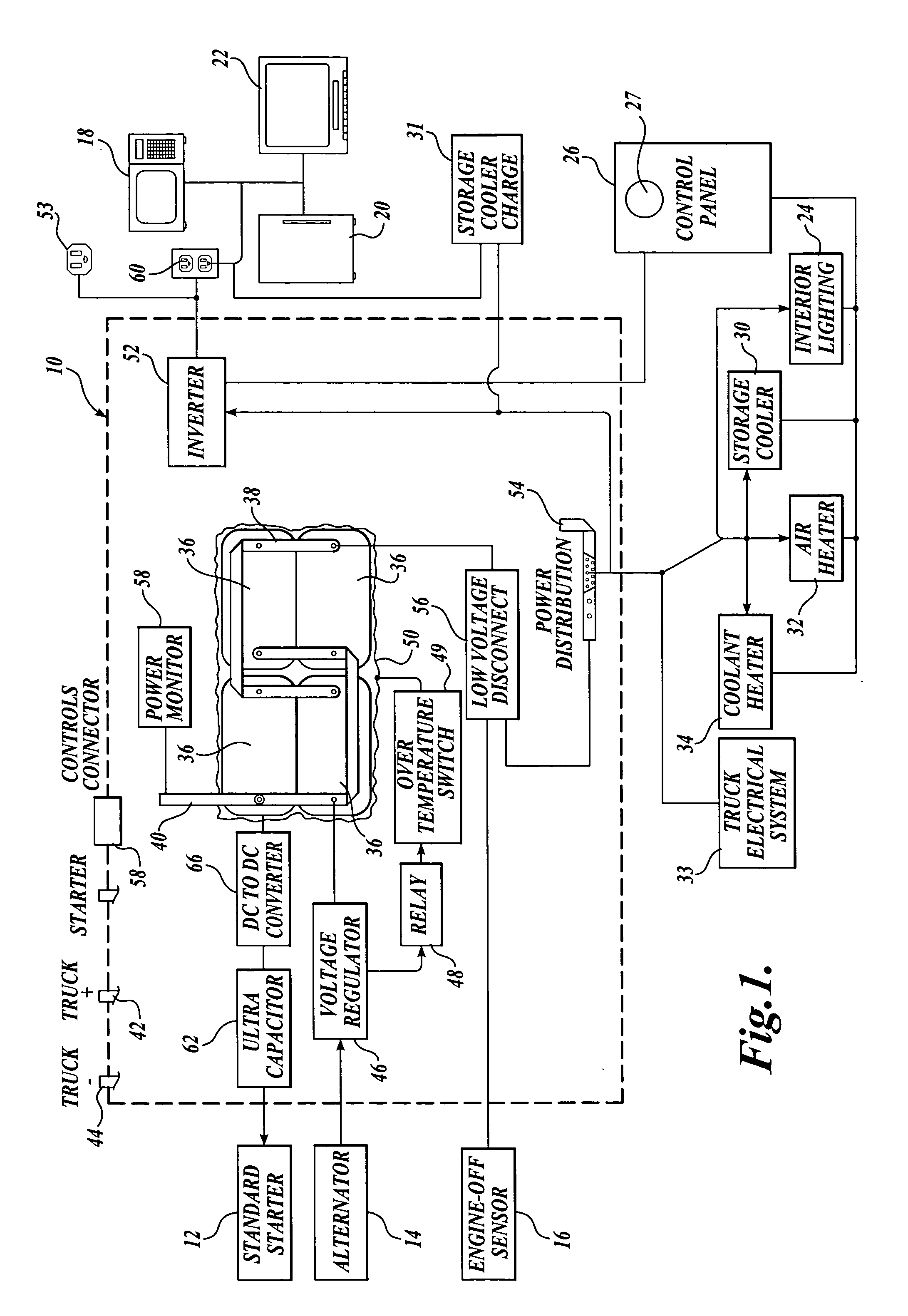 US07145788 20061205 D00001 patent us7145788 electrical power system for vehicles requiring xantrex link 2000 wiring diagram at crackthecode.co