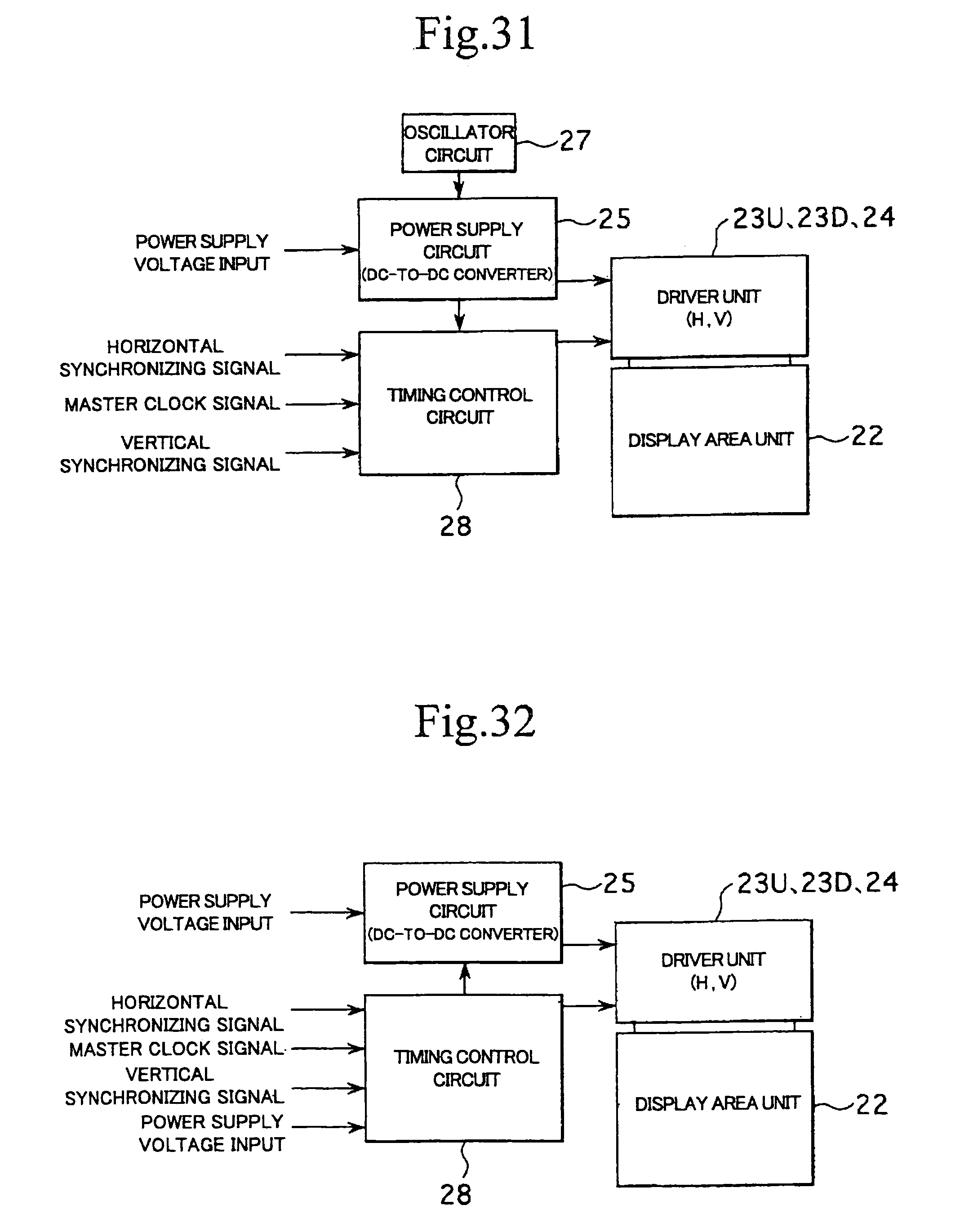 Patent Us7148886 Power Supply Voltage Converting Circuit Control Display Drawing