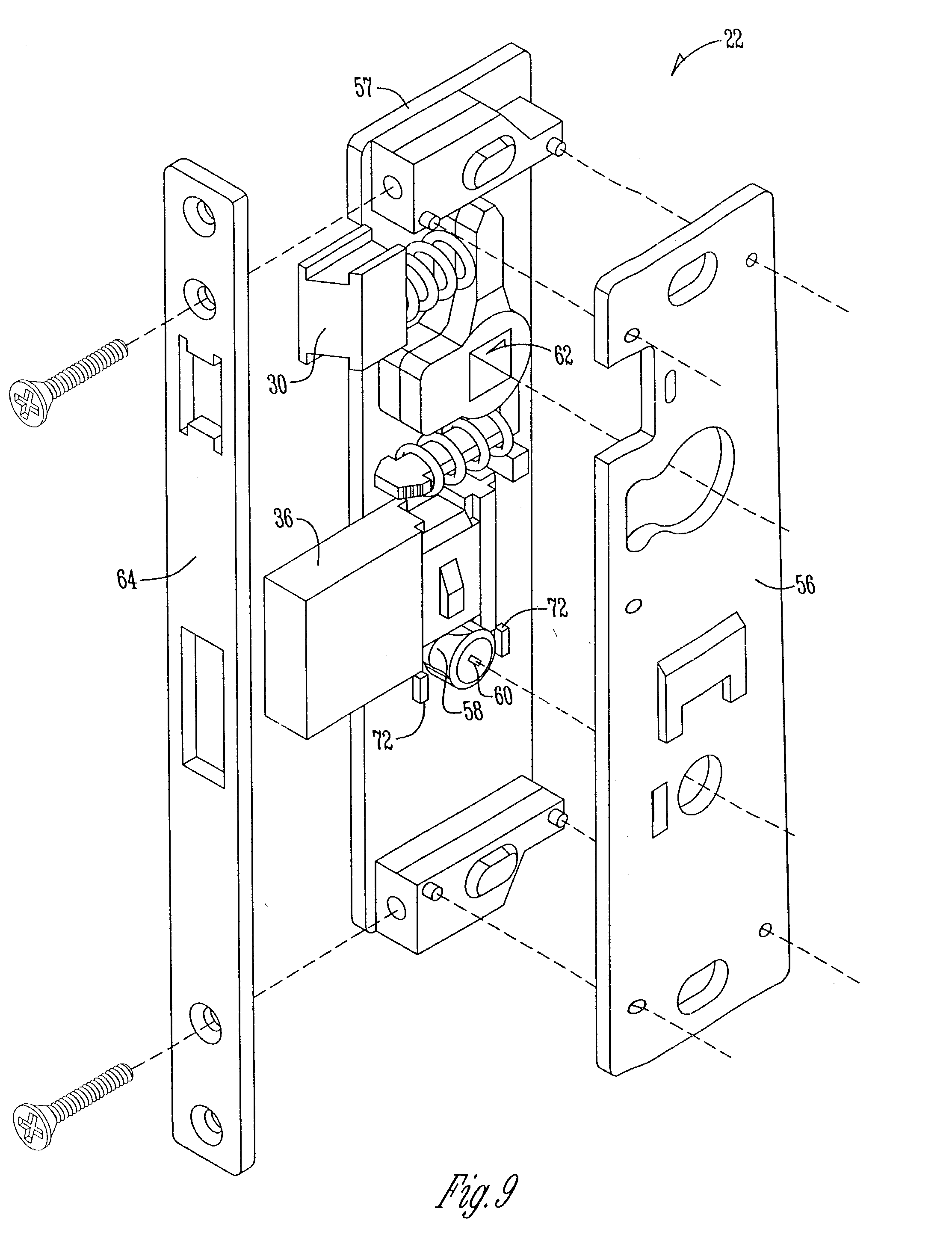 Patent US7152442 Method For Installing A Storm Door Mortise Lock . Full resolution‎  image, nominally Width 2226 Height 2929 pixels, image with #4B4B4B.