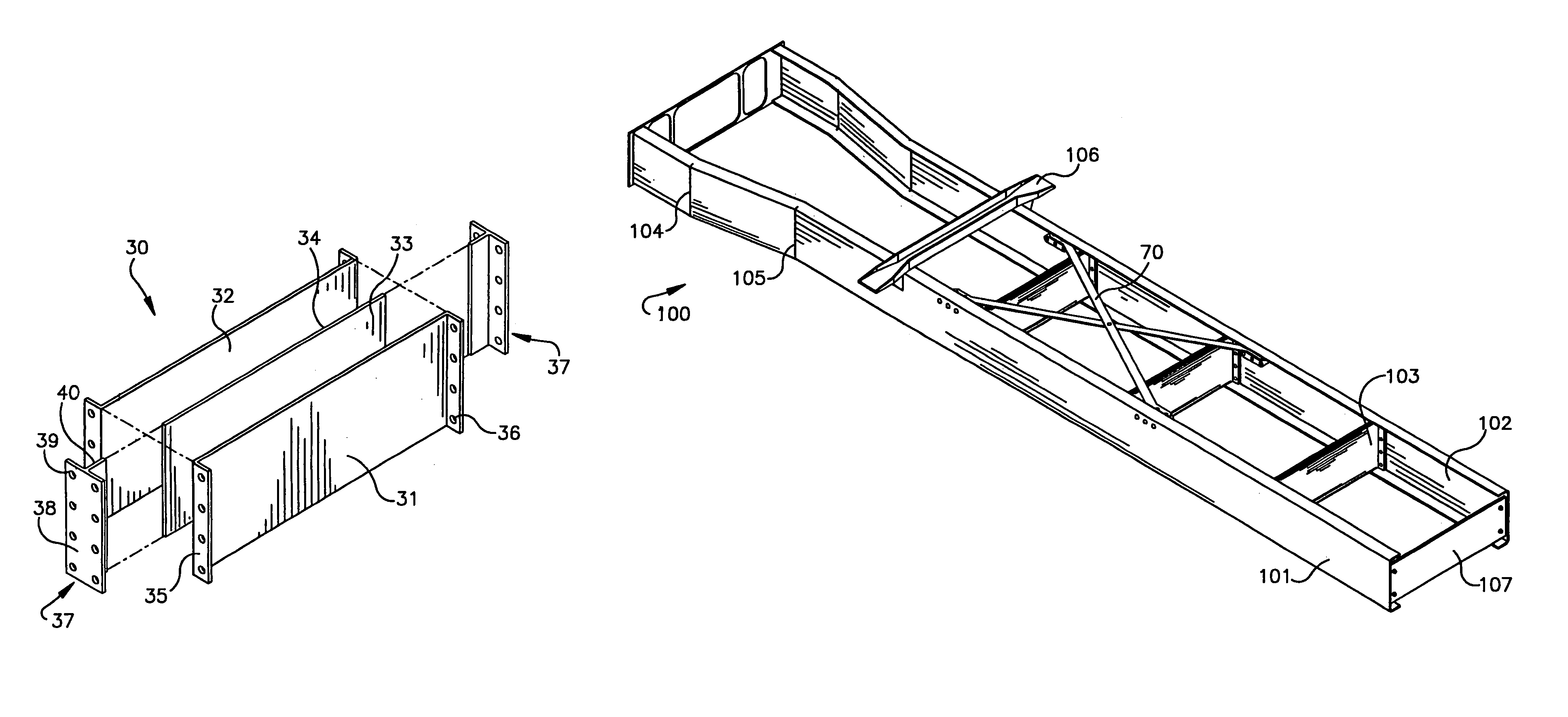 Patent US7156421 - Composite cross member system - Google Patents