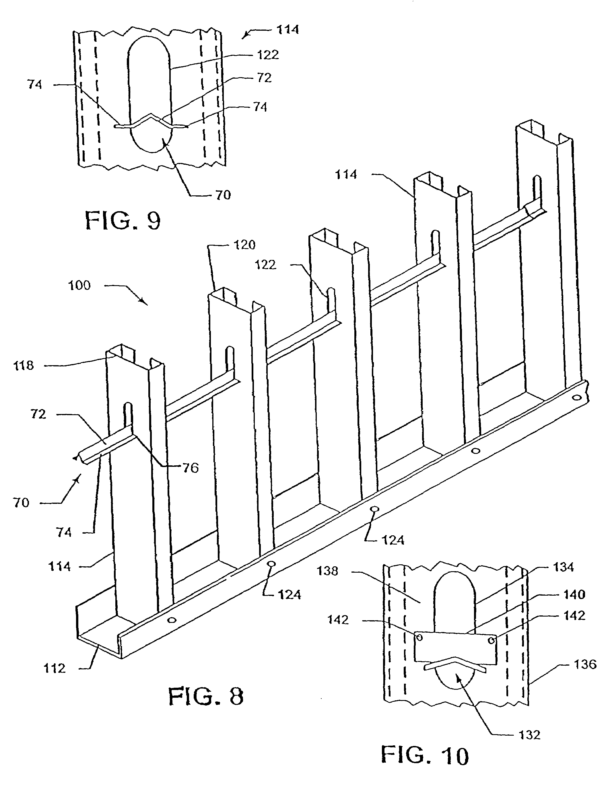 Additionally patent us7159369 stud wall system and method using bined