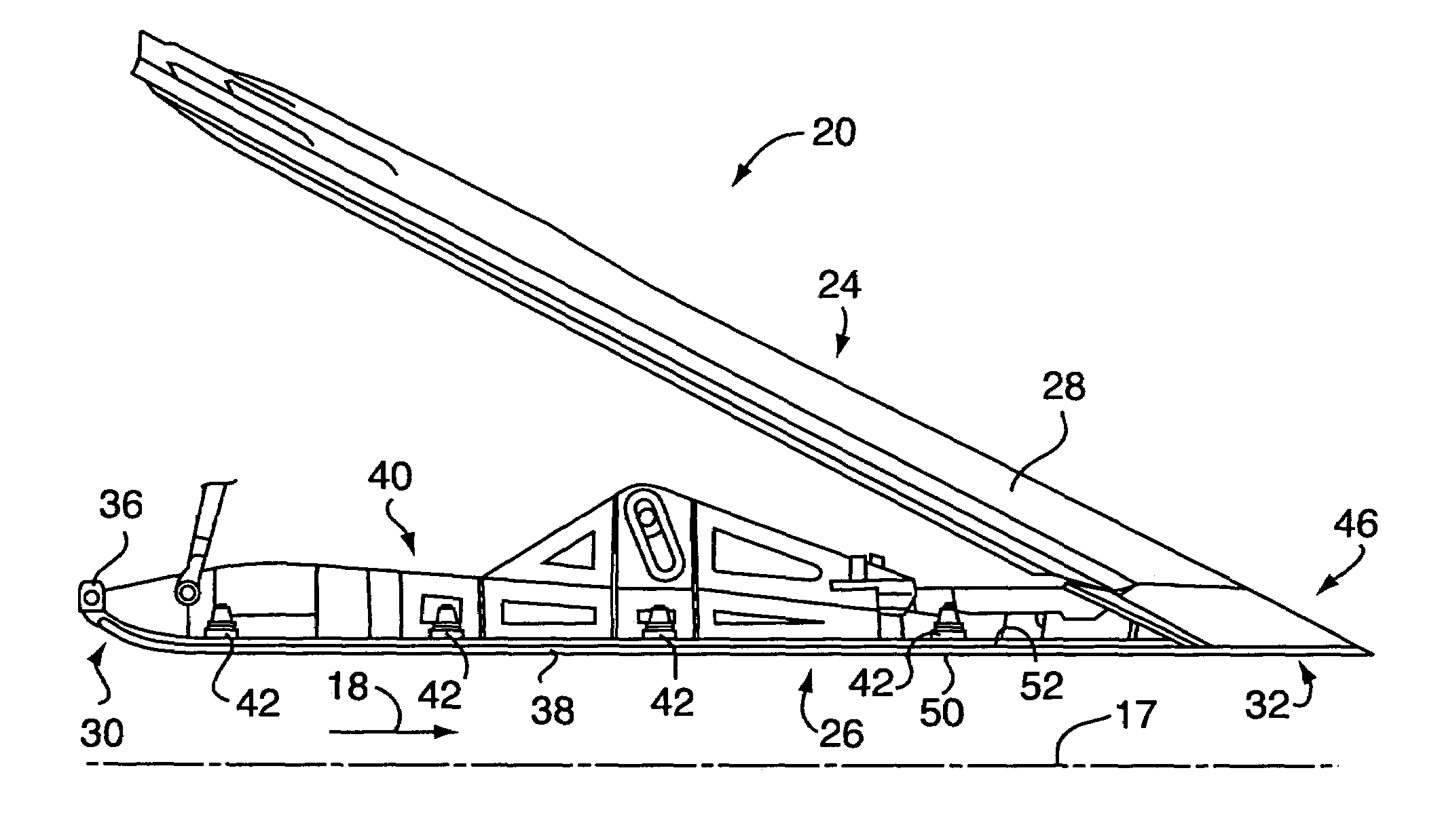 Patent US Divergent flap for a gas turbine engine