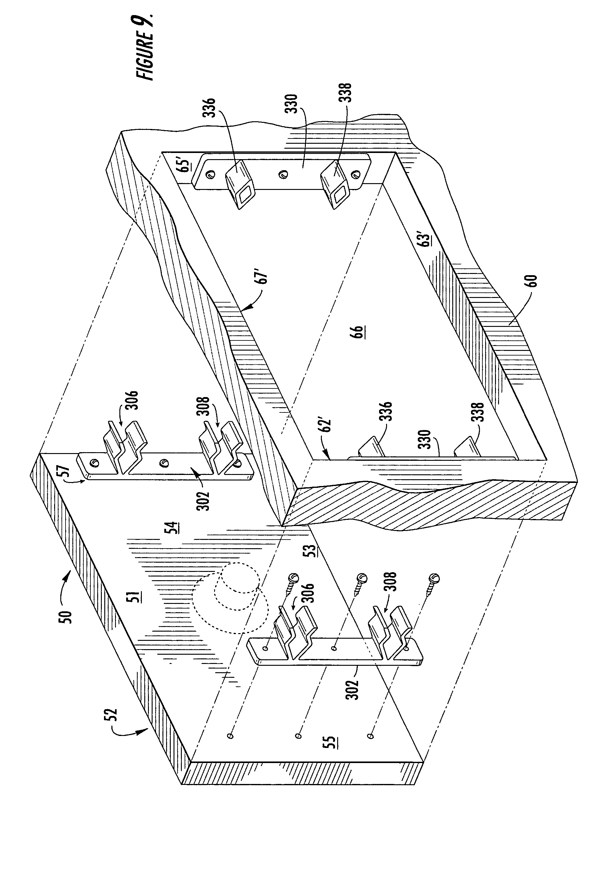 False front connector for cabinets cabinets with false fronts and