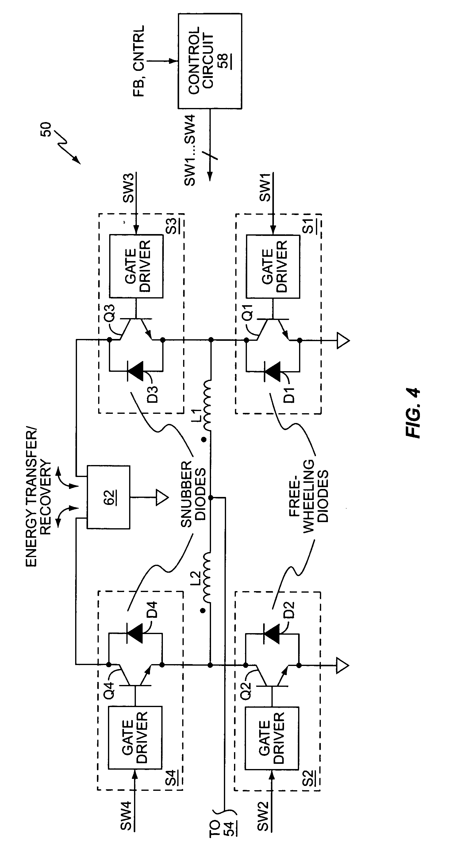 patent us7180759 - push-pull inverter with snubber energy recovery