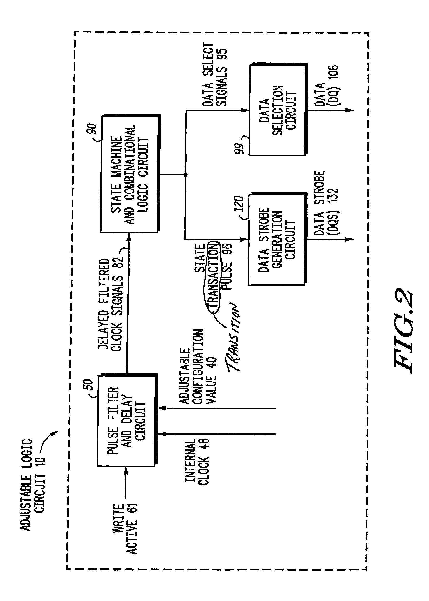 Patent Us7181638 Method And Apparatus For Skewing Data With Schematic Of Basic Strobe Circuit Drawing
