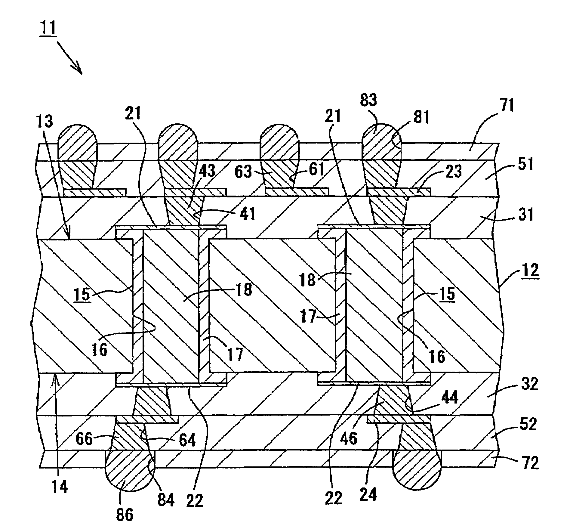 Patent Us7183497 Multilayer Wiring Board Google Patents Drawing