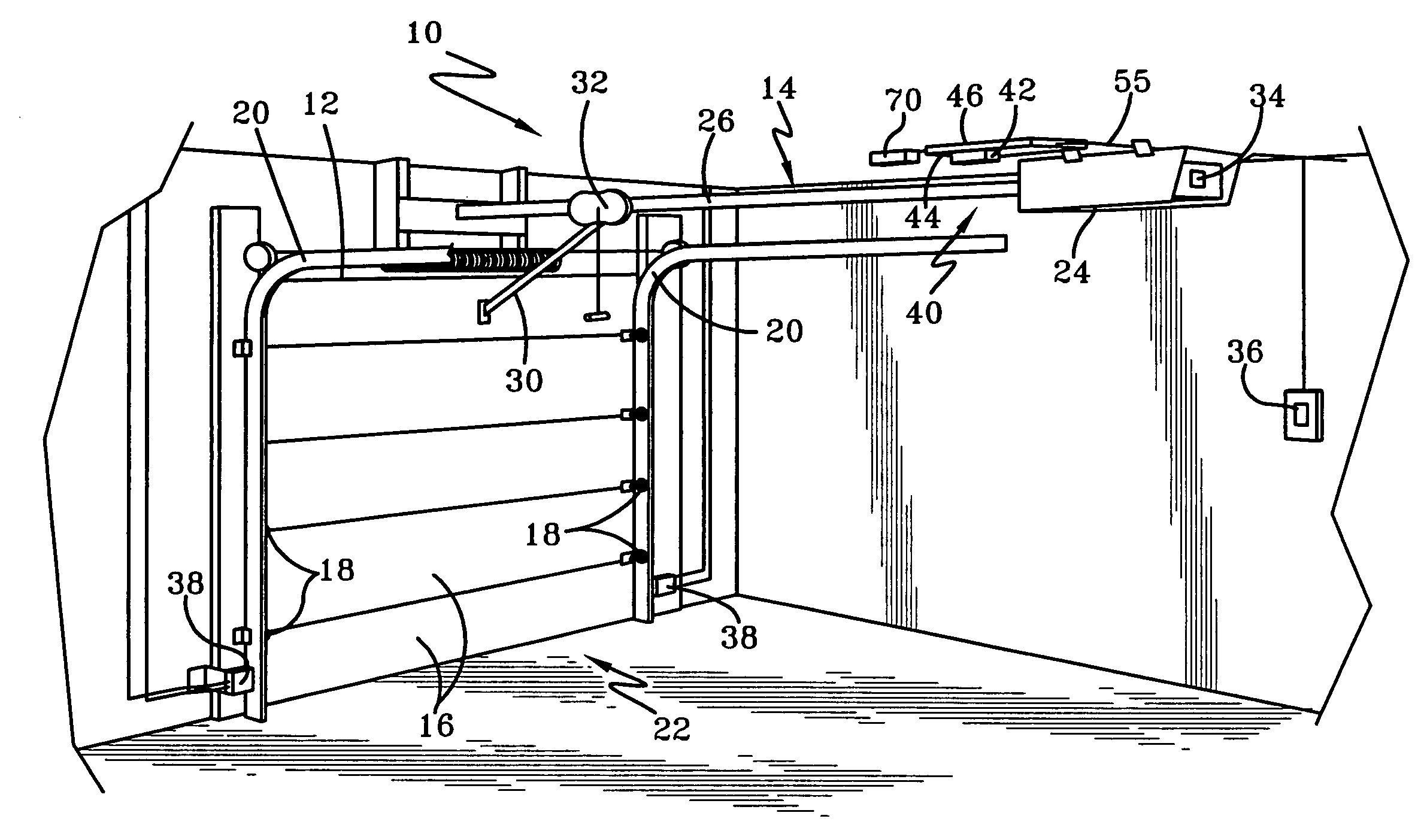 Minimum height of garage door - Patent Drawing