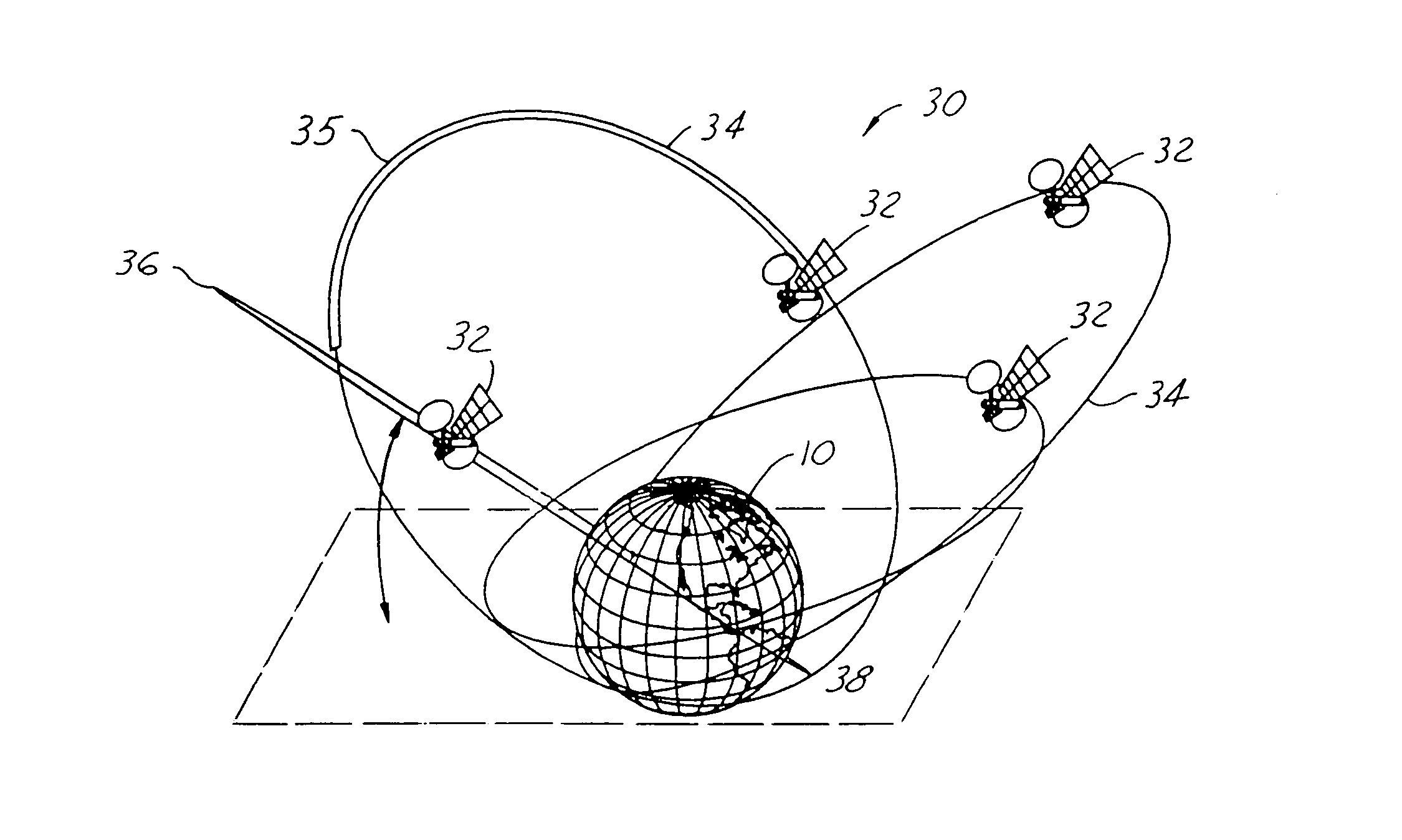 patent us7184761 satellite munications system patents Satellite Reflector Diagram patent drawing