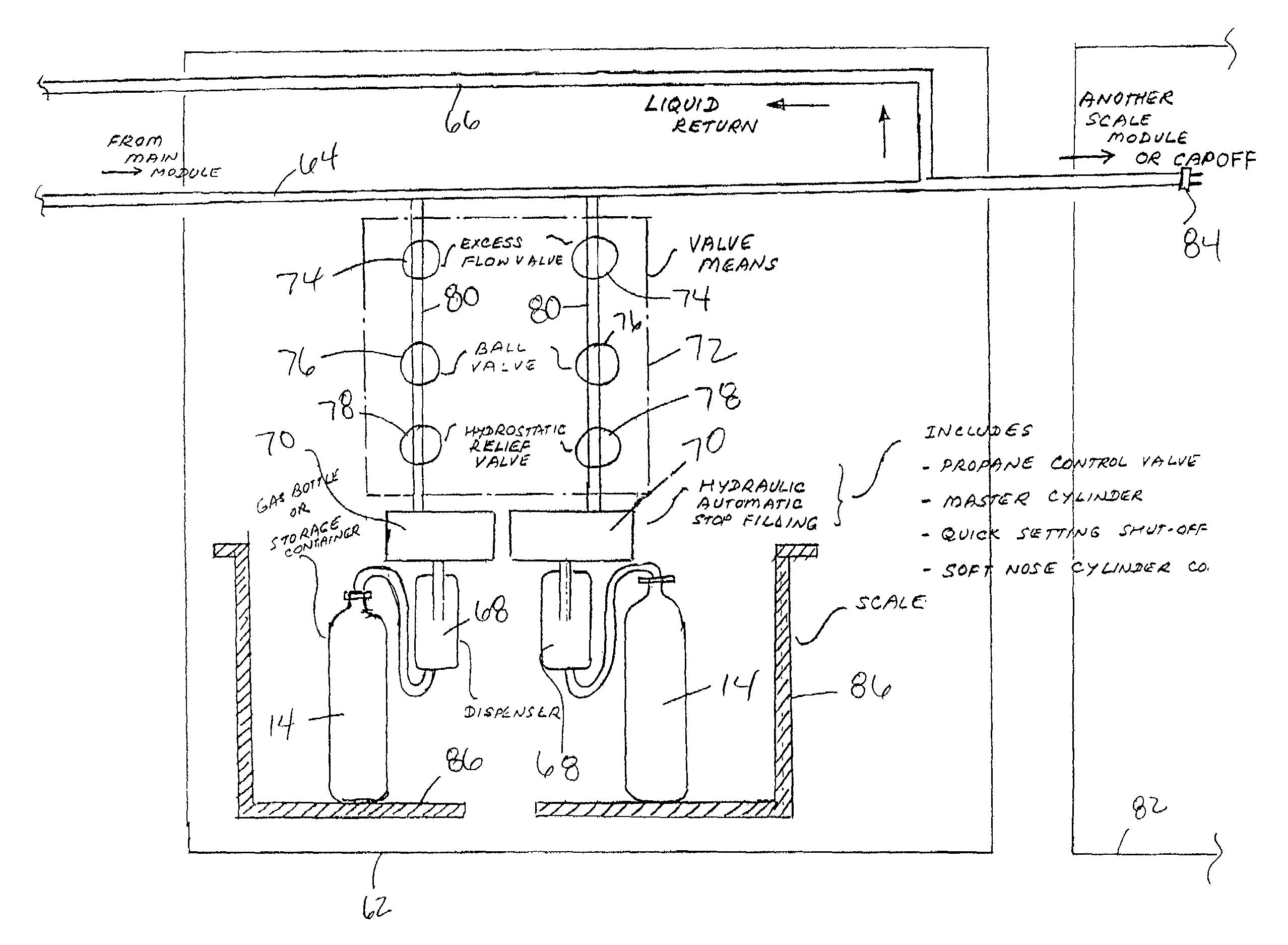 Patent US7185684 Apparatus For Dispensing Propane Gas