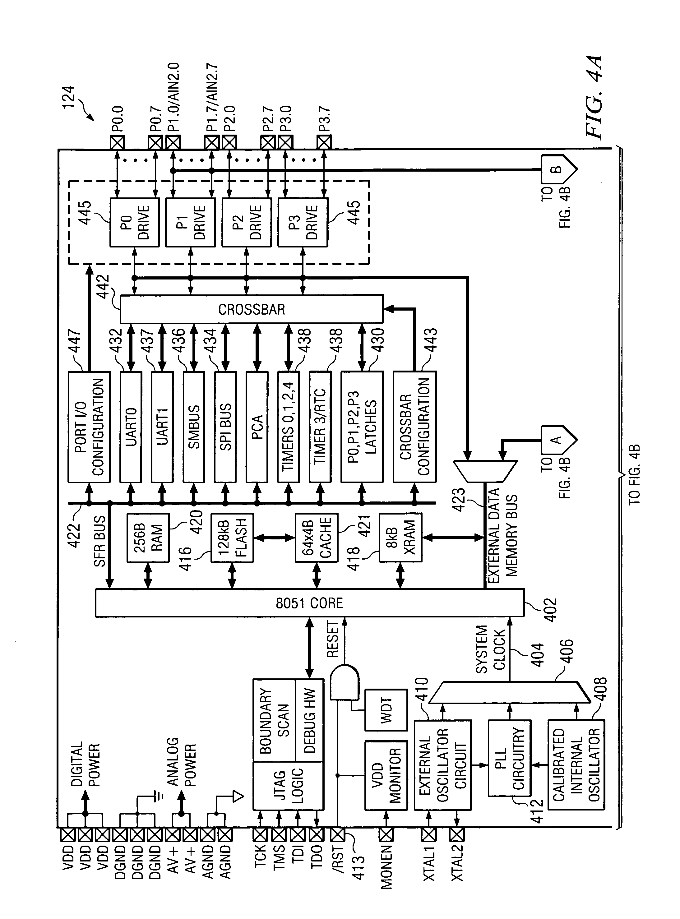 patent us7187193 - mcu test device for multiple integrated circuit chips