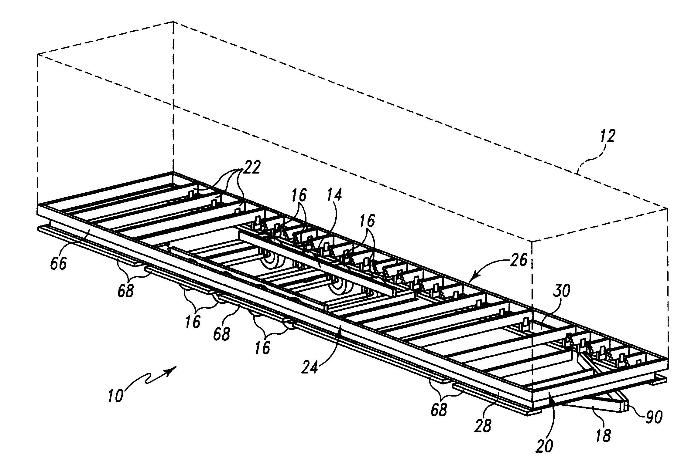 patent drawing - Mobile Home Frame