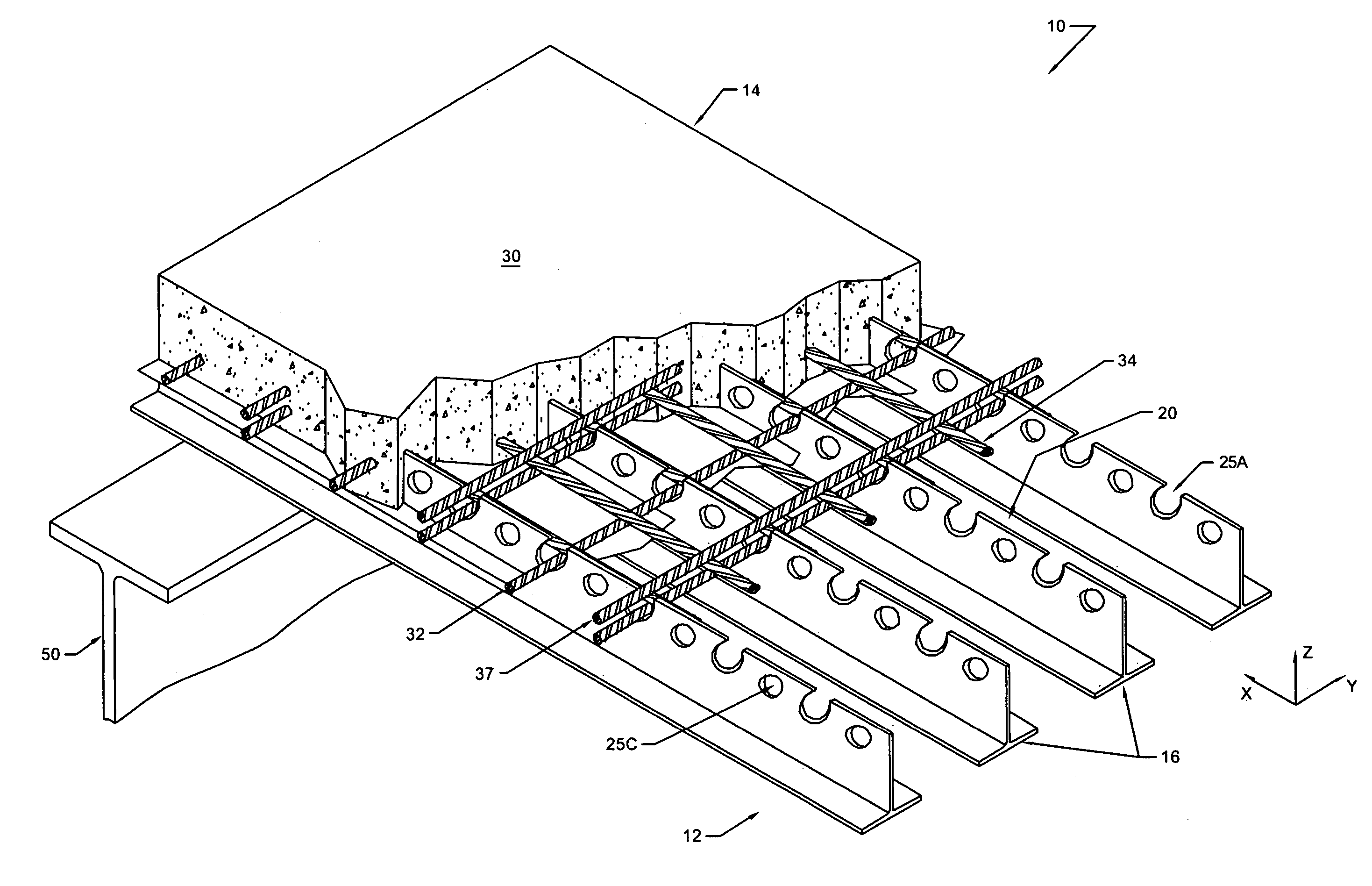Patent us prestressed or post tension composite