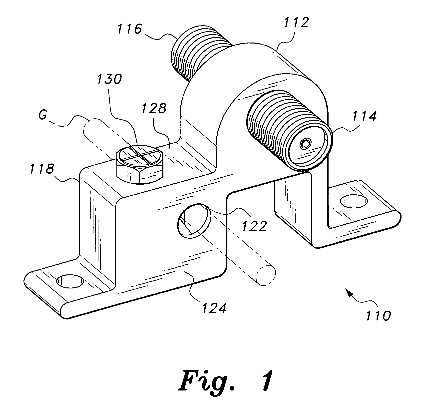 patent us7198495 - electrical bonding block with grounding lug