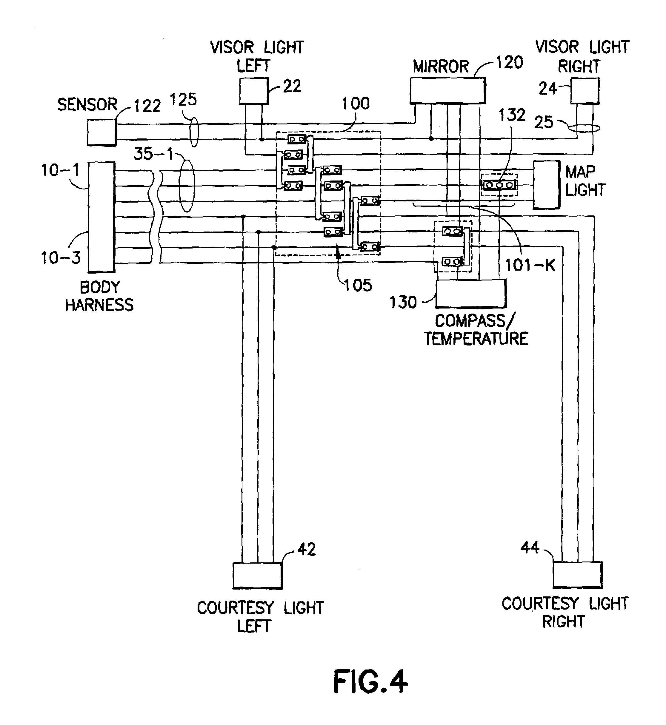 patent us7199487 modular wiring harnesses google patents patent drawing