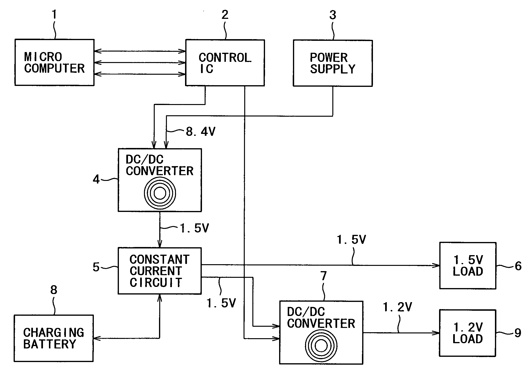 Patent Us7199552 Control Circuit Apparatus And Power Supply The Current From A Battery Is Direct Drawing