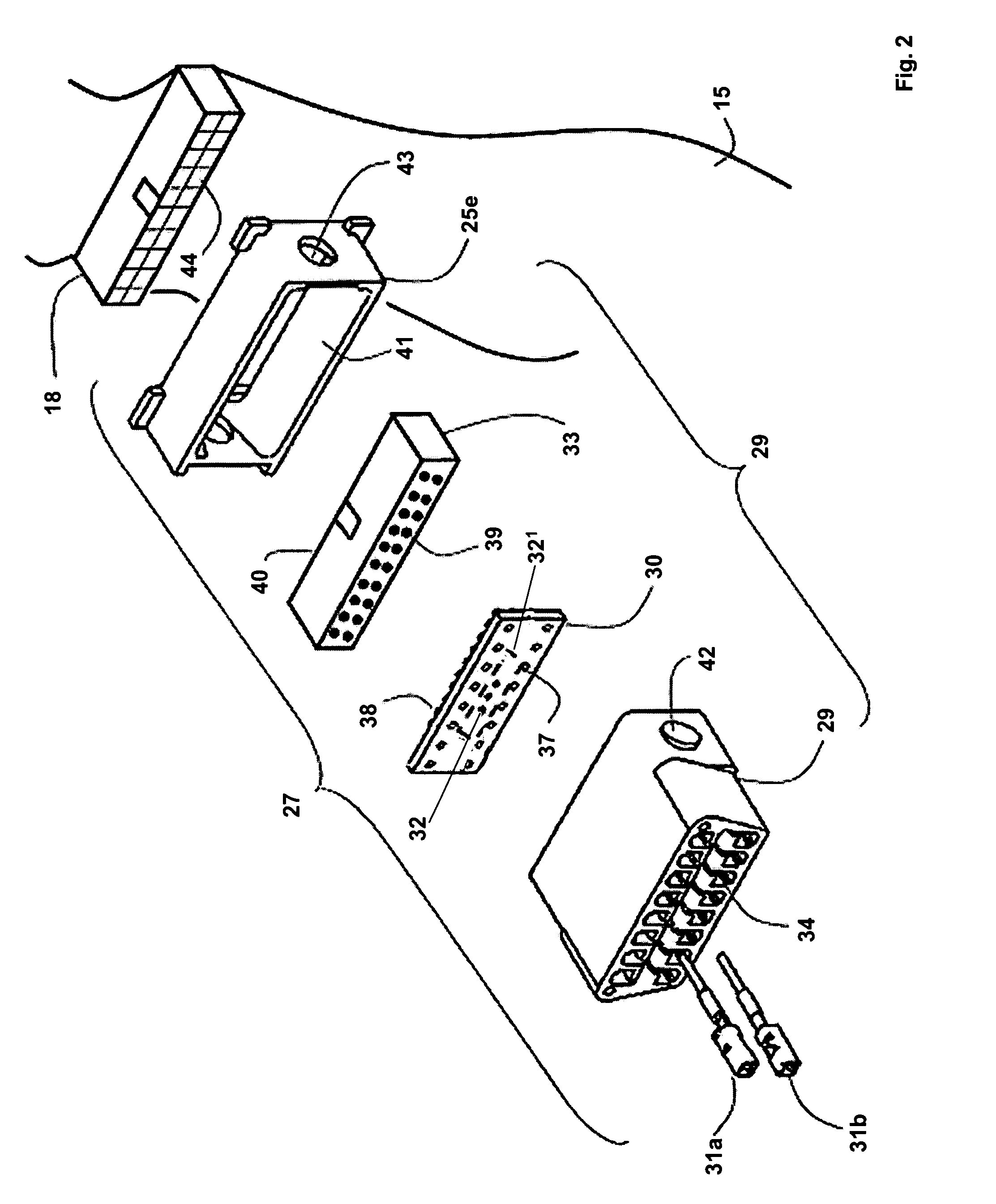 US07225065 20070529 D00002 patent us7225065 in vehicle wiring harness with multiple,Wilson Stock Trailer 7 Way Plug Wiring Diagram