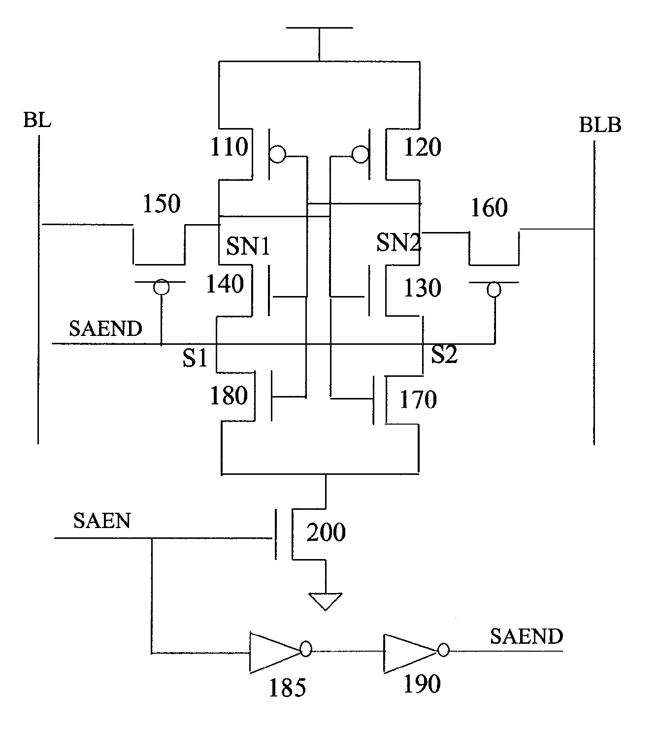 Strobed Sense Amplifier Giftsforsubs Index 190 Circuit Diagram Seekiccom Patent Us7227798 Lat