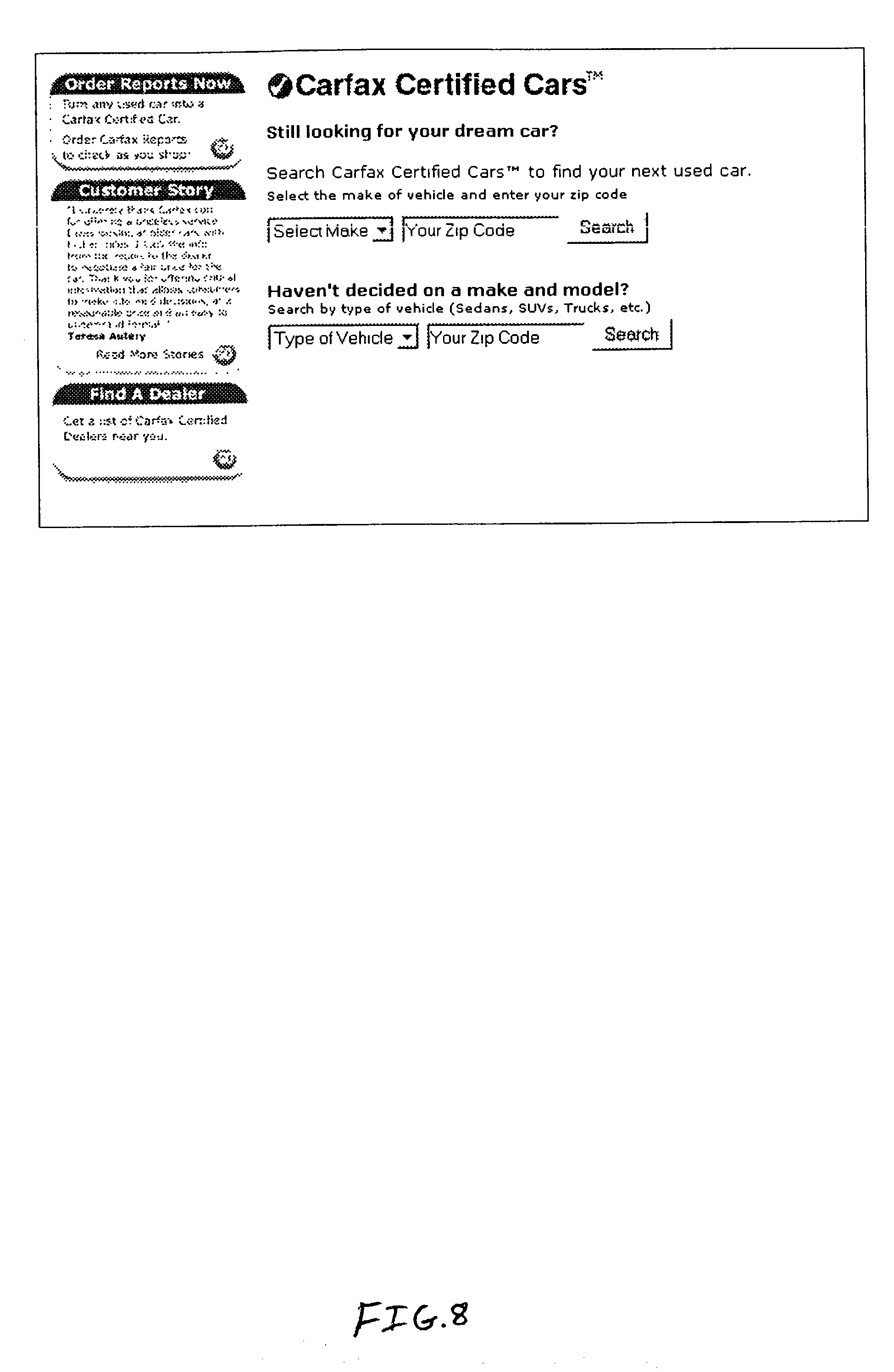Patent US Apparatus And Method For Perusing Selected - Us zip code type