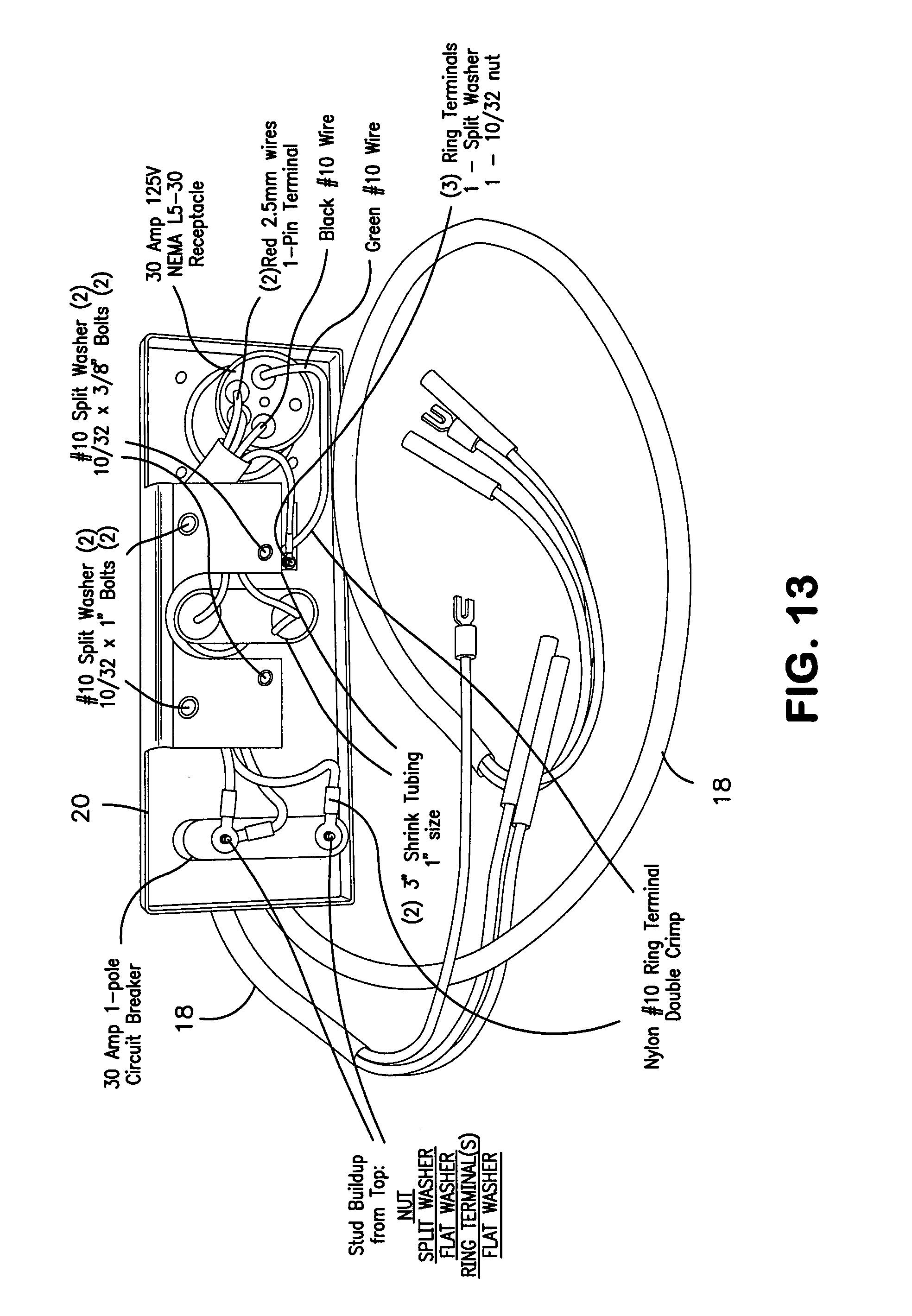 patent us7235741 parallel connection kit for power generators patent drawing