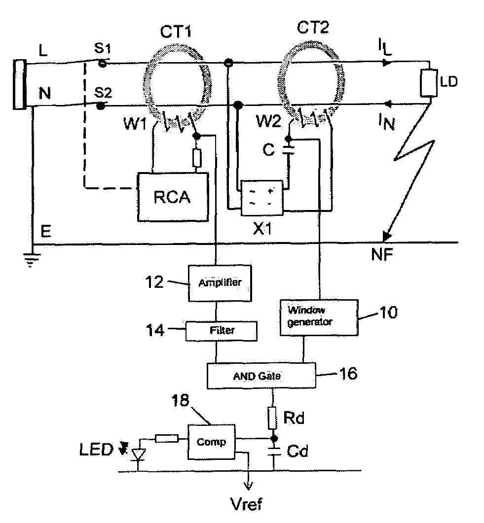 Residual Current Device : Patent us residual current device with double
