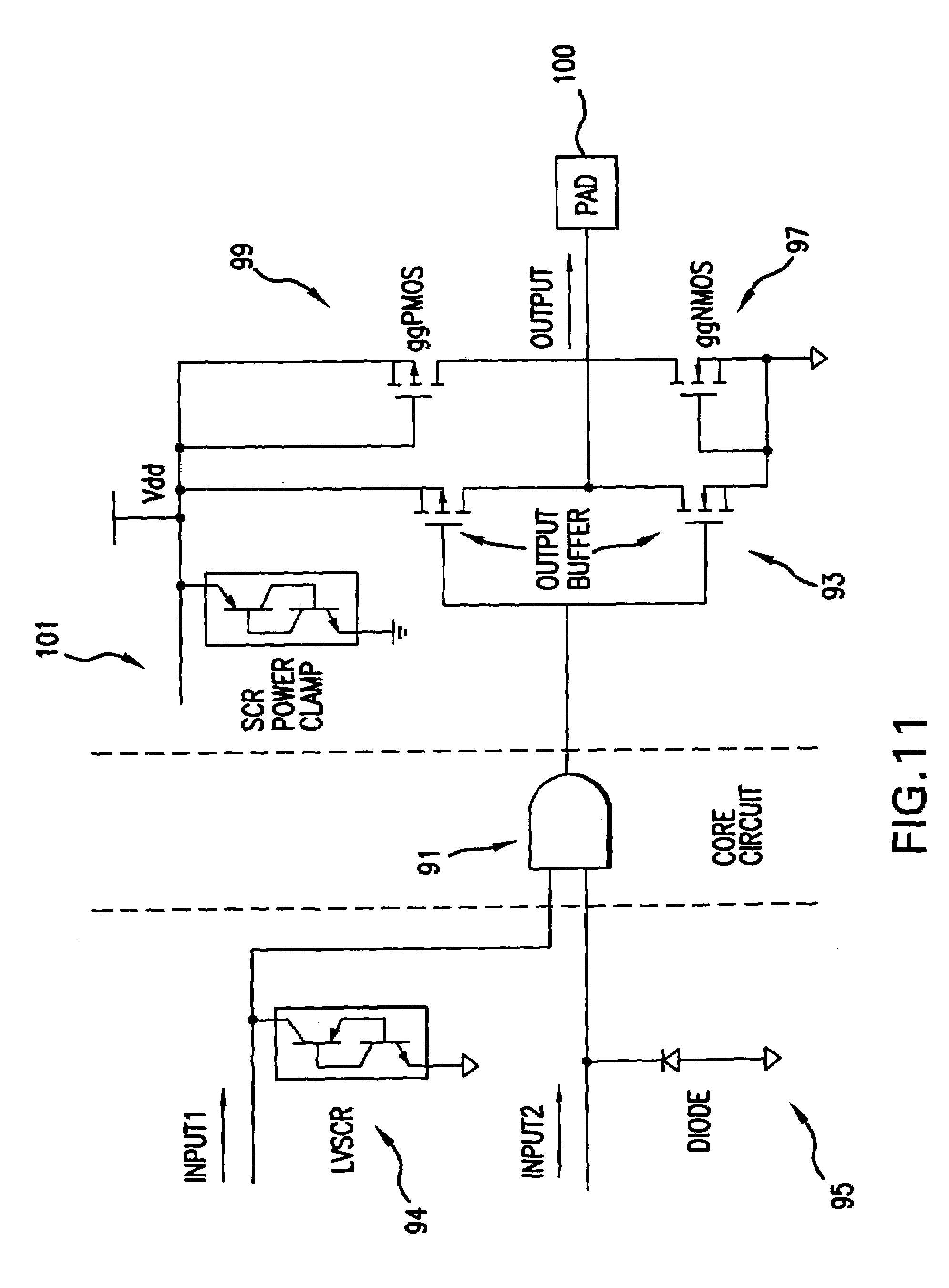 Patent Us7243317 Parameter Checking Method For On Chip Esd Vertical Bjt Type Device Drawing