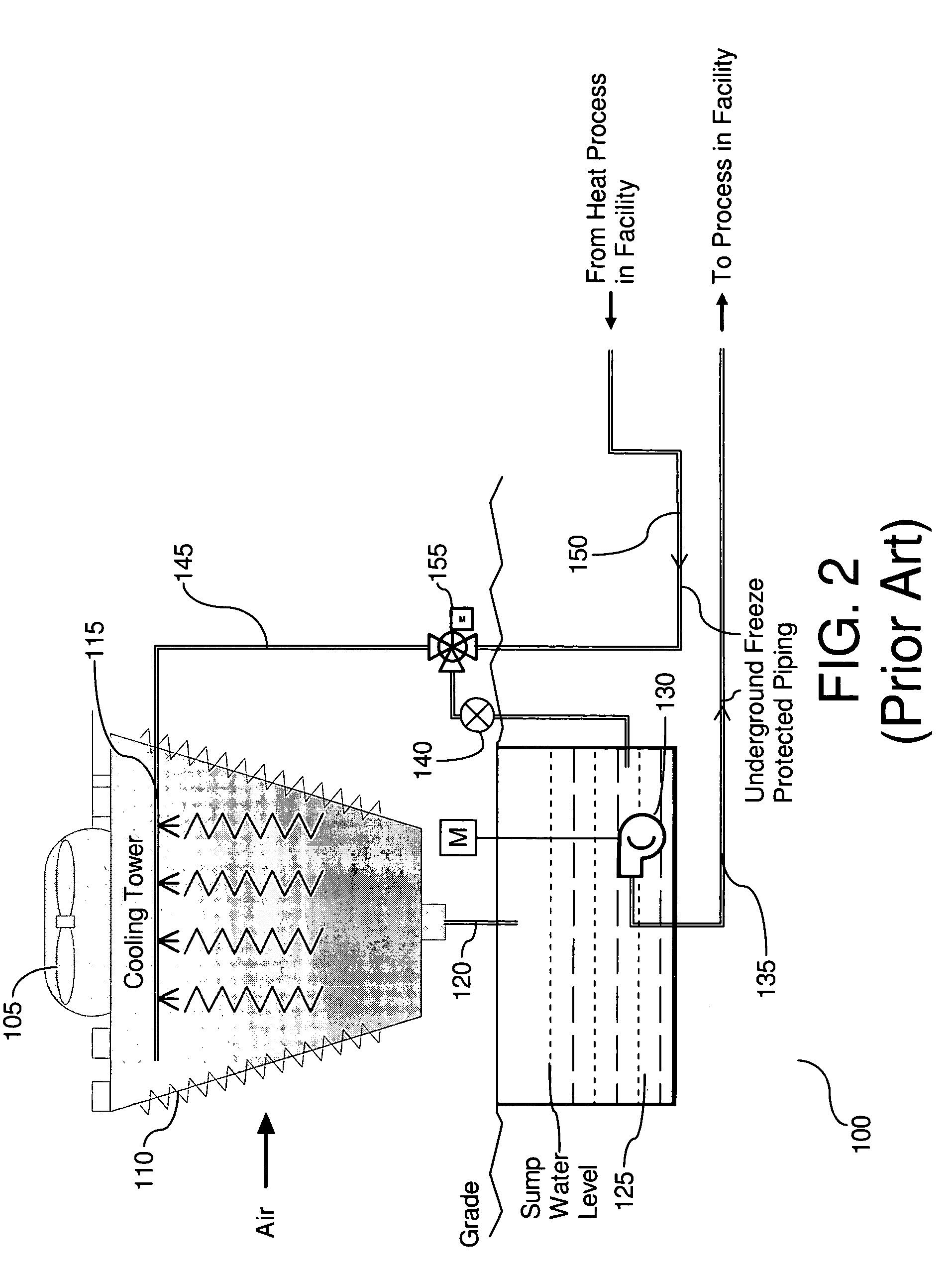 Patent US7243909 - Collector sump cooling tower - Google Patents